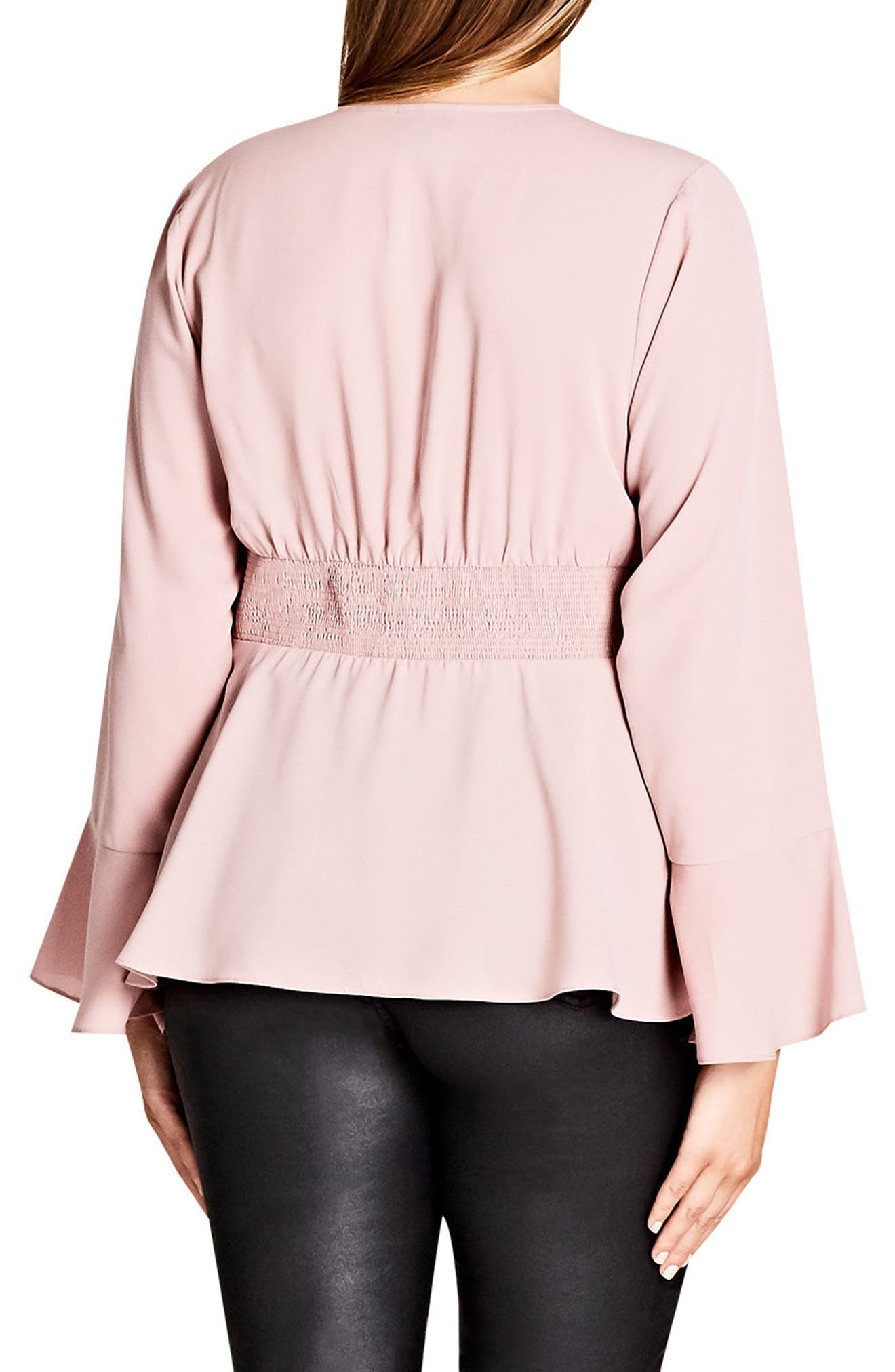 Button Up Top,                             Alternate thumbnail 2, color,                             Dark Rose