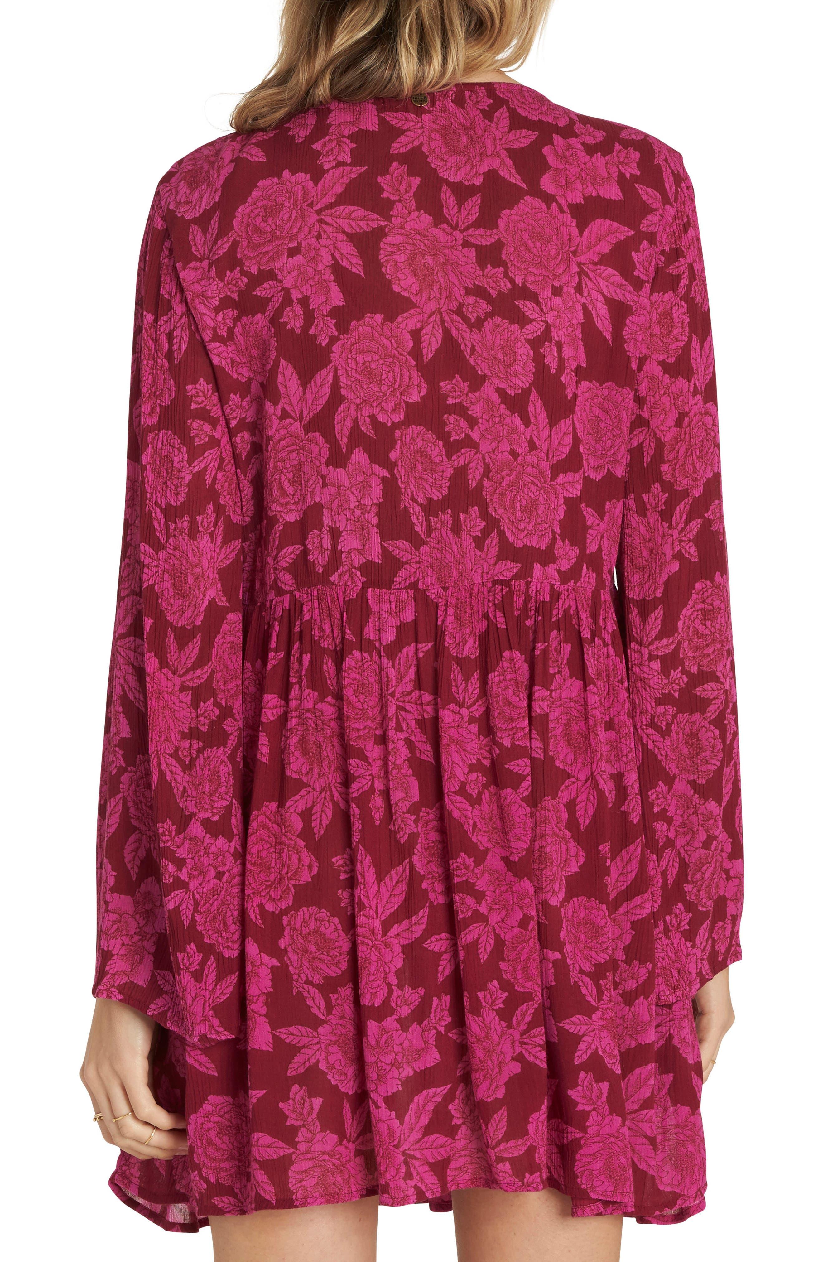 Take Today Babydoll Dress,                             Alternate thumbnail 2, color,                             Pomegranate