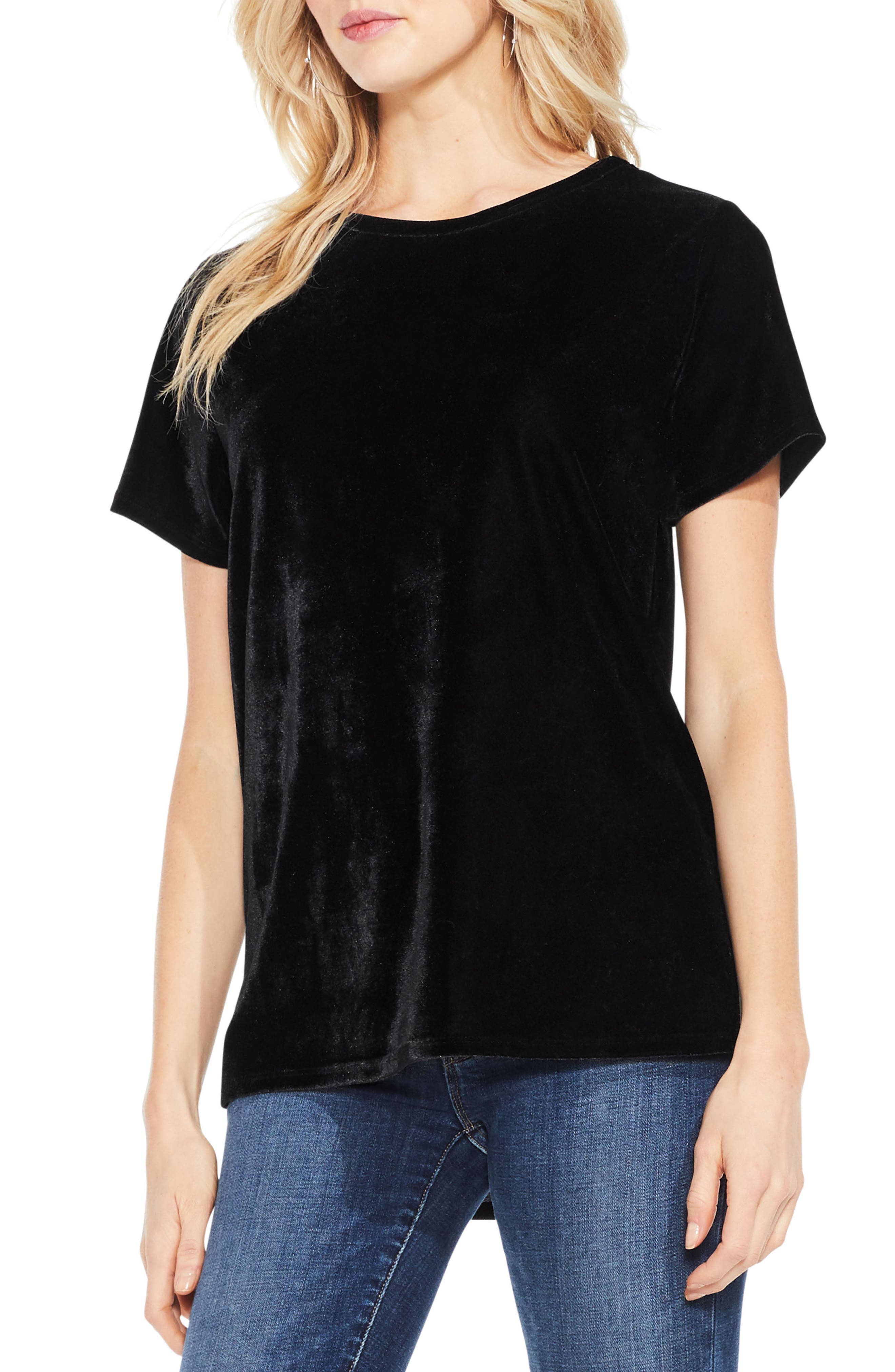 Alternate Image 1 Selected - Two by Vince Camuto Velvet Top
