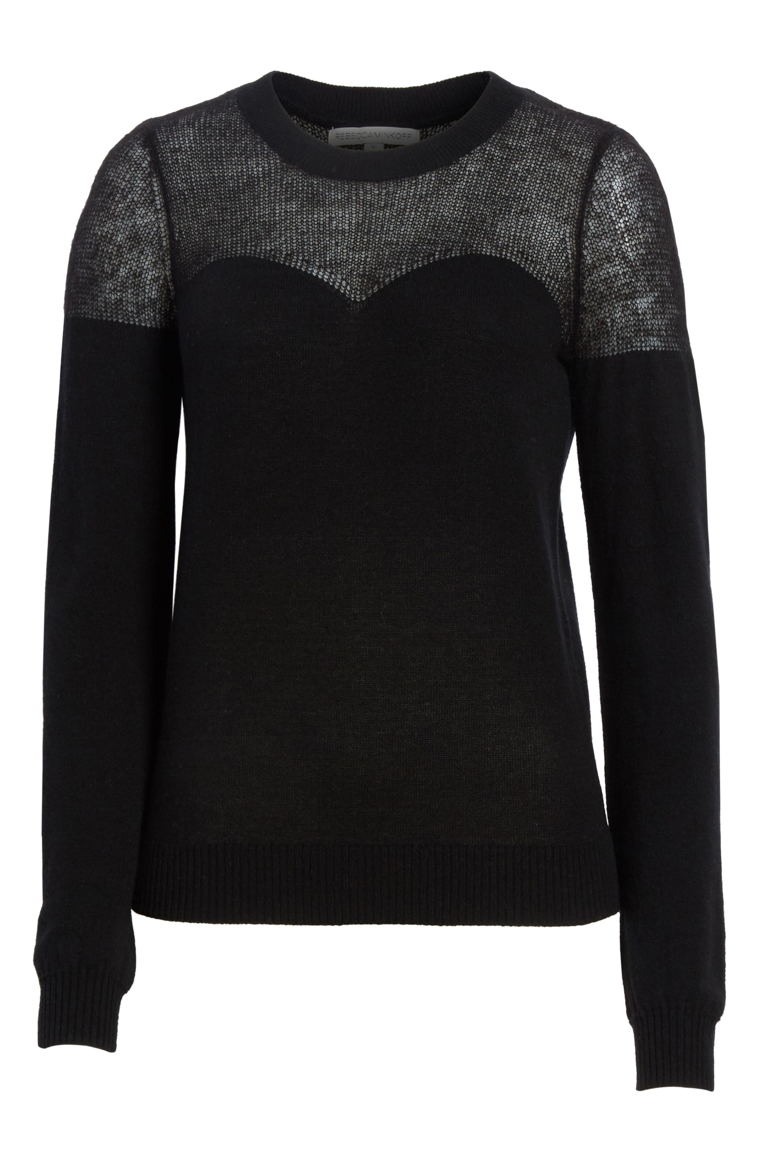 Clarence Sweater,                             Alternate thumbnail 6, color,                             Black Multi