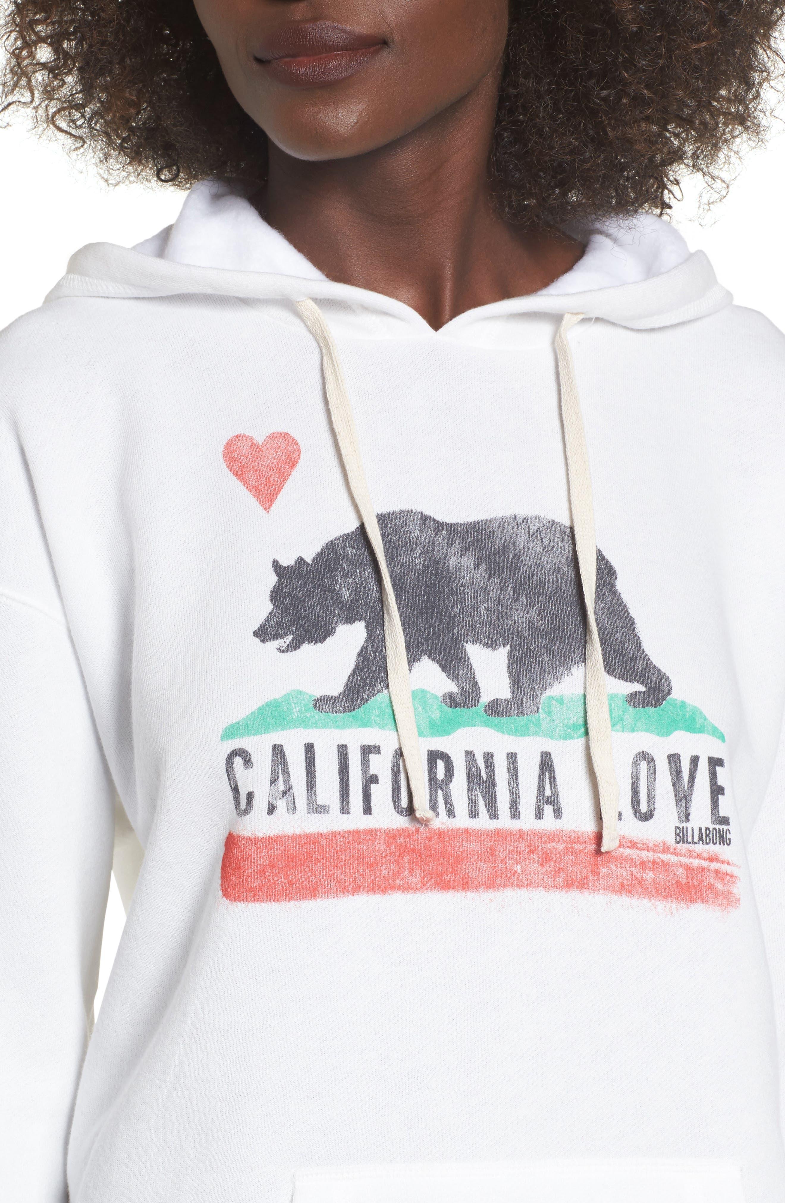 Cali Bear Hoodie,                             Alternate thumbnail 4, color,                             Cool Wip
