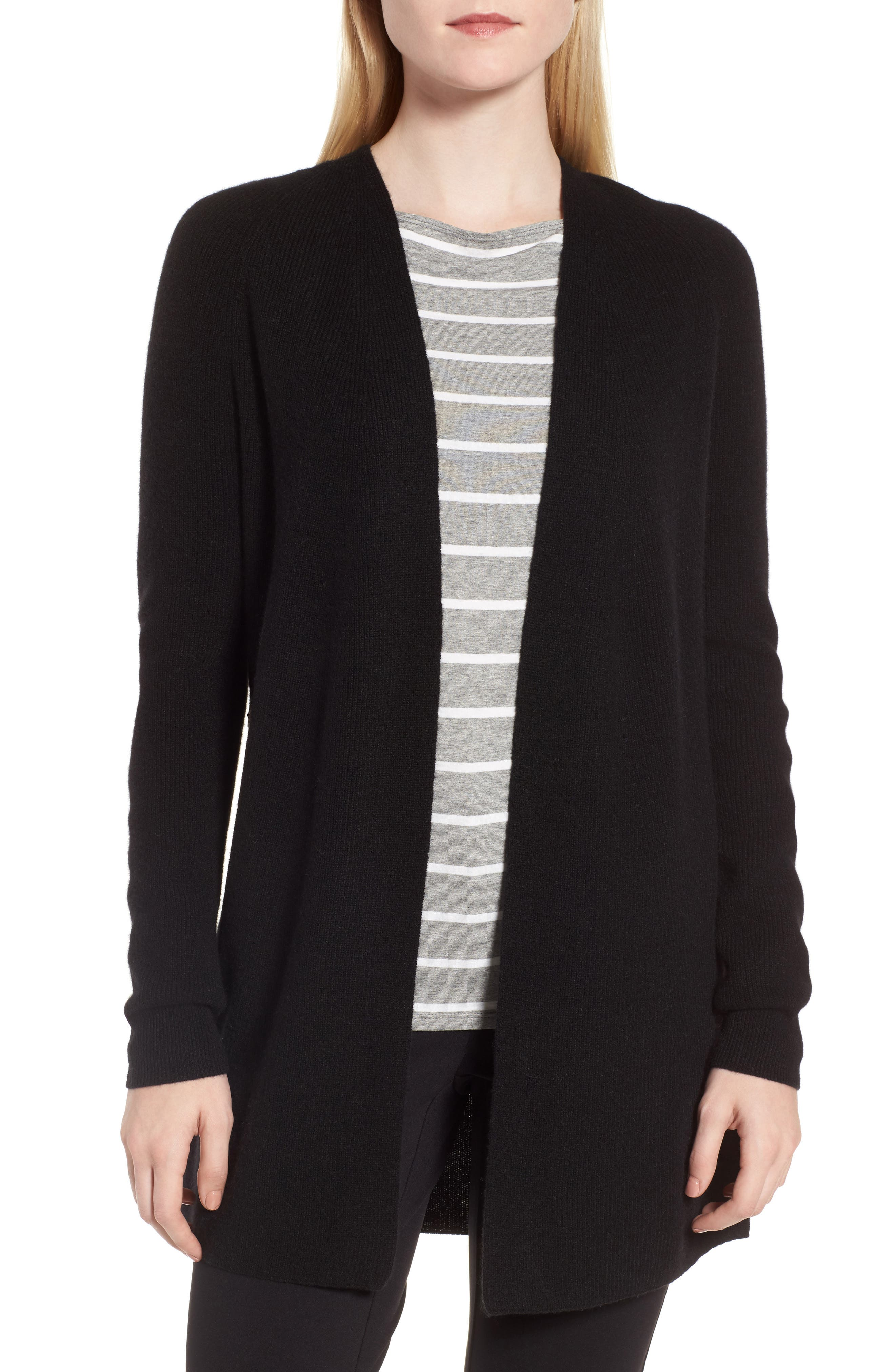 Nordstrom Signature Side Button Cashmere Cardigan