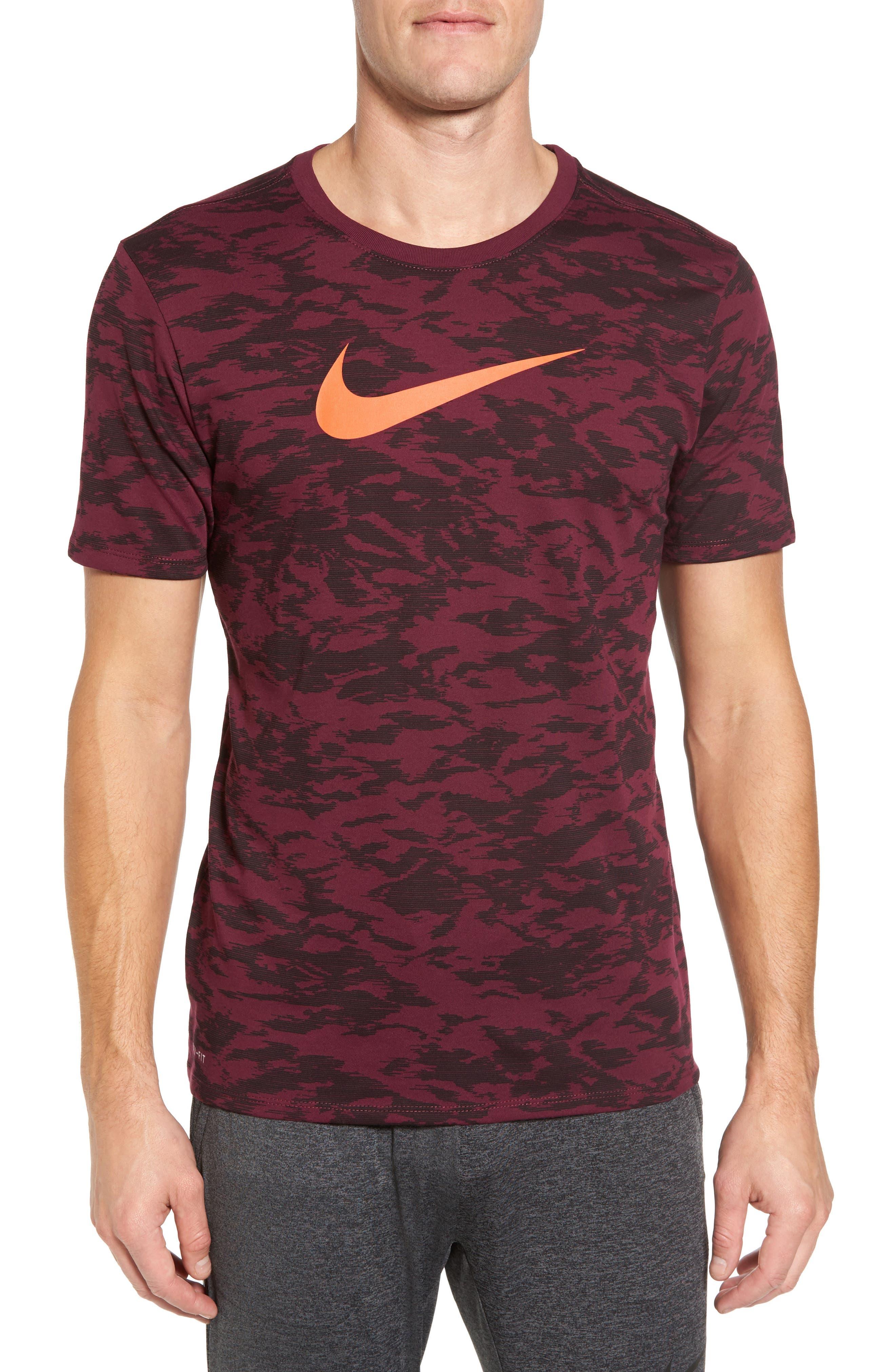 Basketball Attack Logo T-Shirt,                         Main,                         color, Bordeaux/ Bordeaux