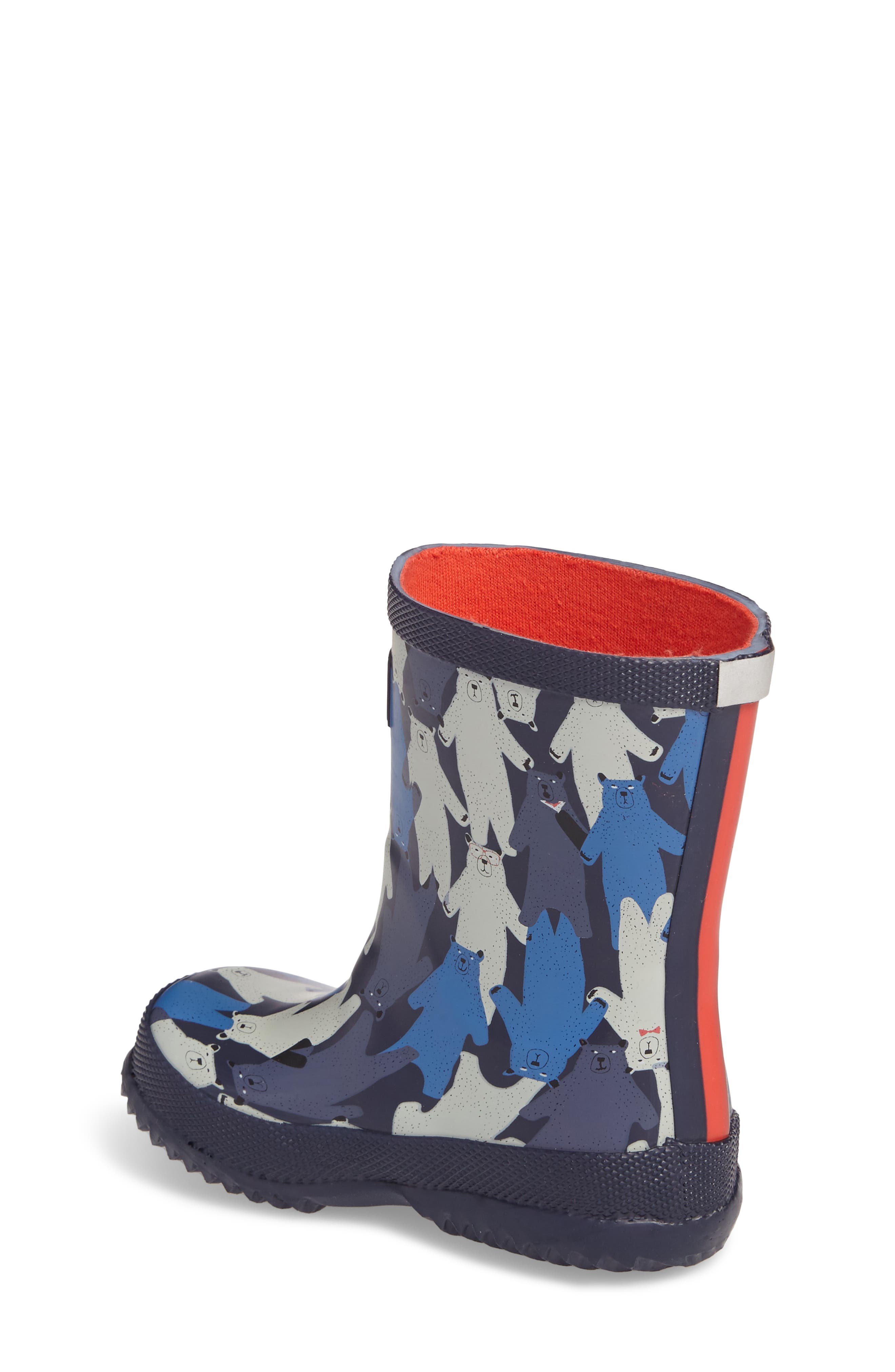 Printed Waterproof Rain Boot,                             Alternate thumbnail 2, color,                             Multi Bear Camo
