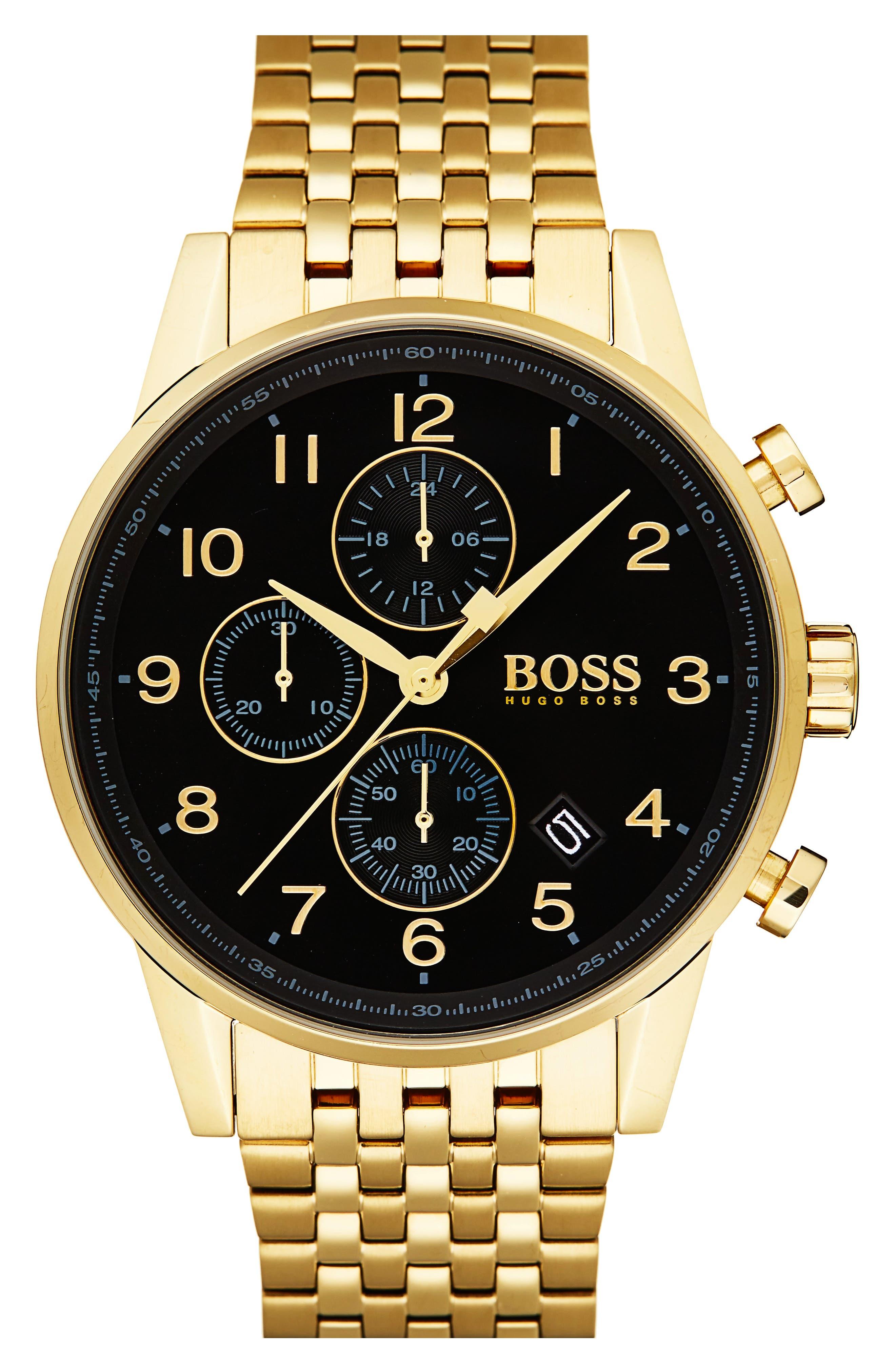 Main Image - BOSS Navigator Chronograph Bracelet Watch, 44mm