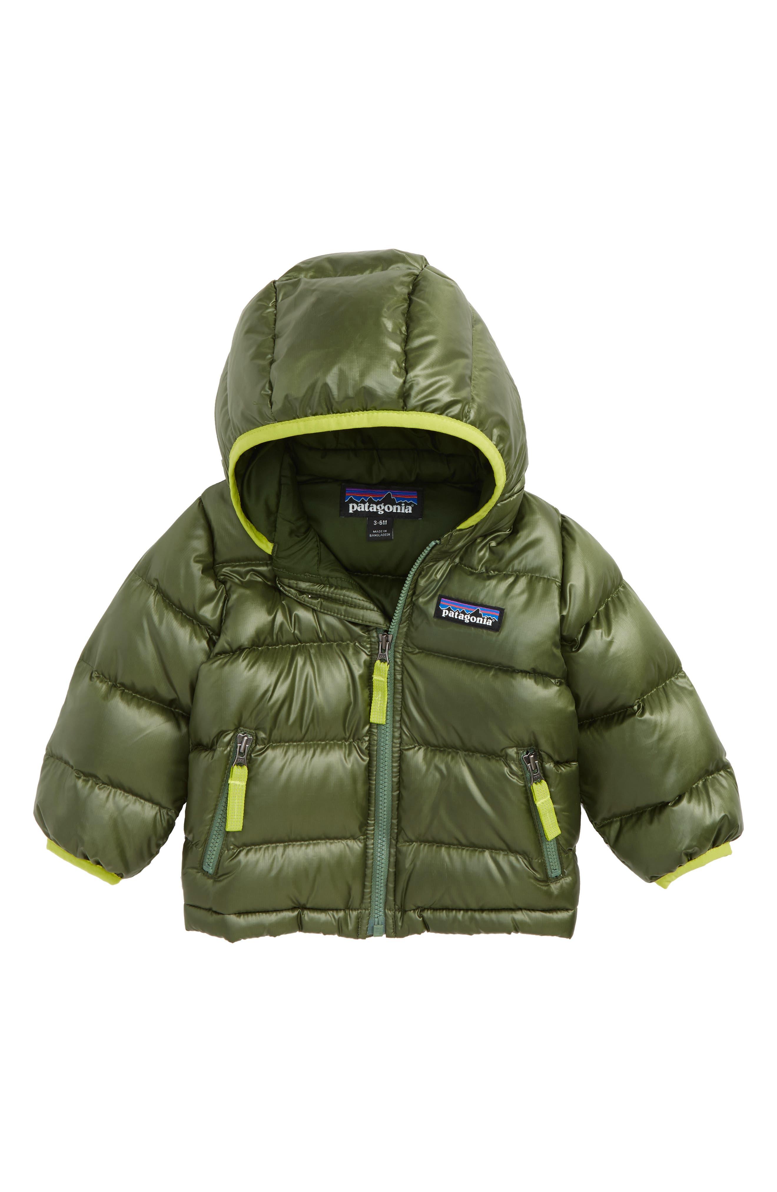 Main Image - Patagonia Hi-Loft Water-Repellent 600-Fill Power Down Sweater Hoodie (Baby Boys)
