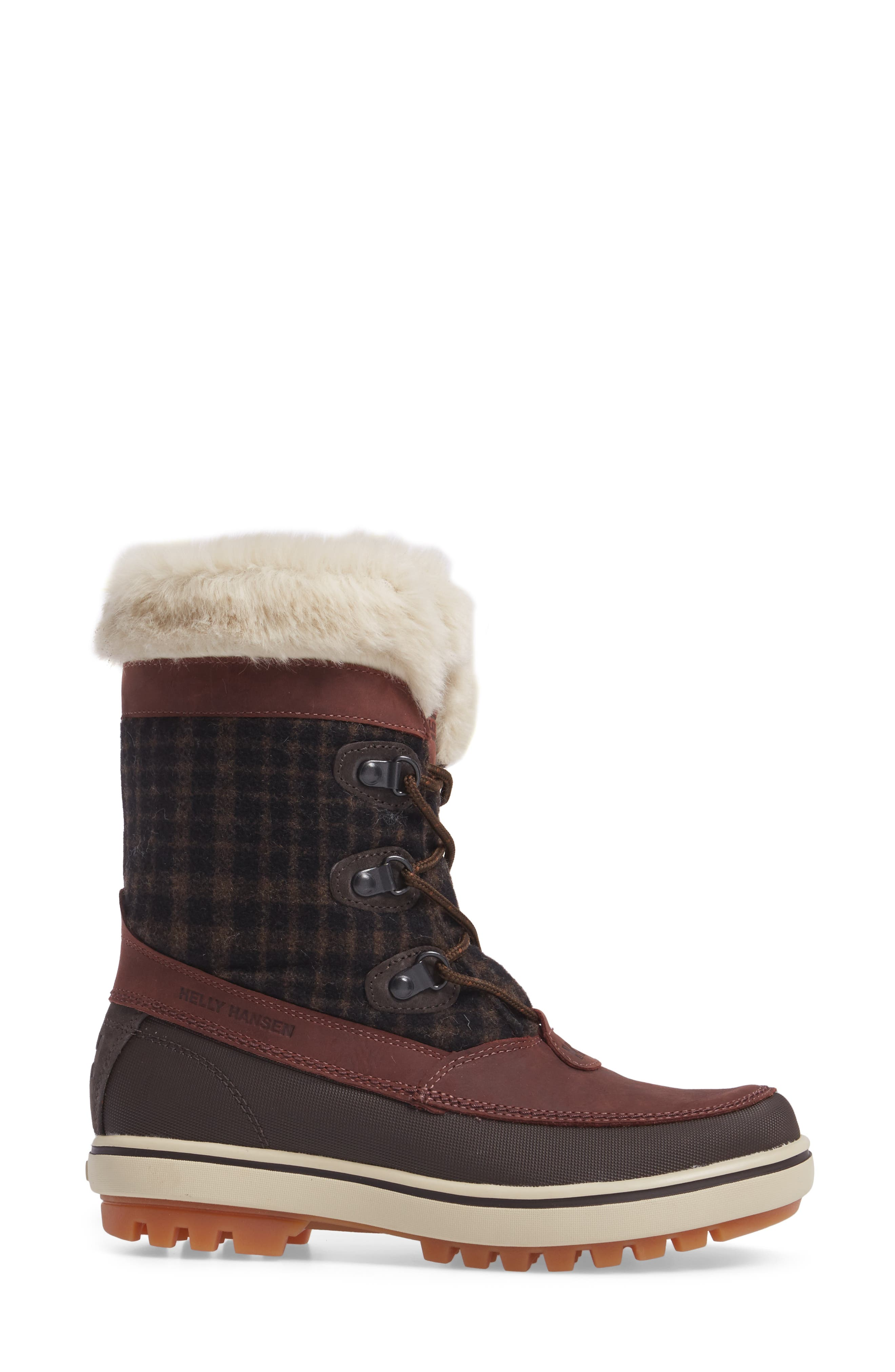 Georgina Snow Boot,                             Alternate thumbnail 3, color,                             Whiskey