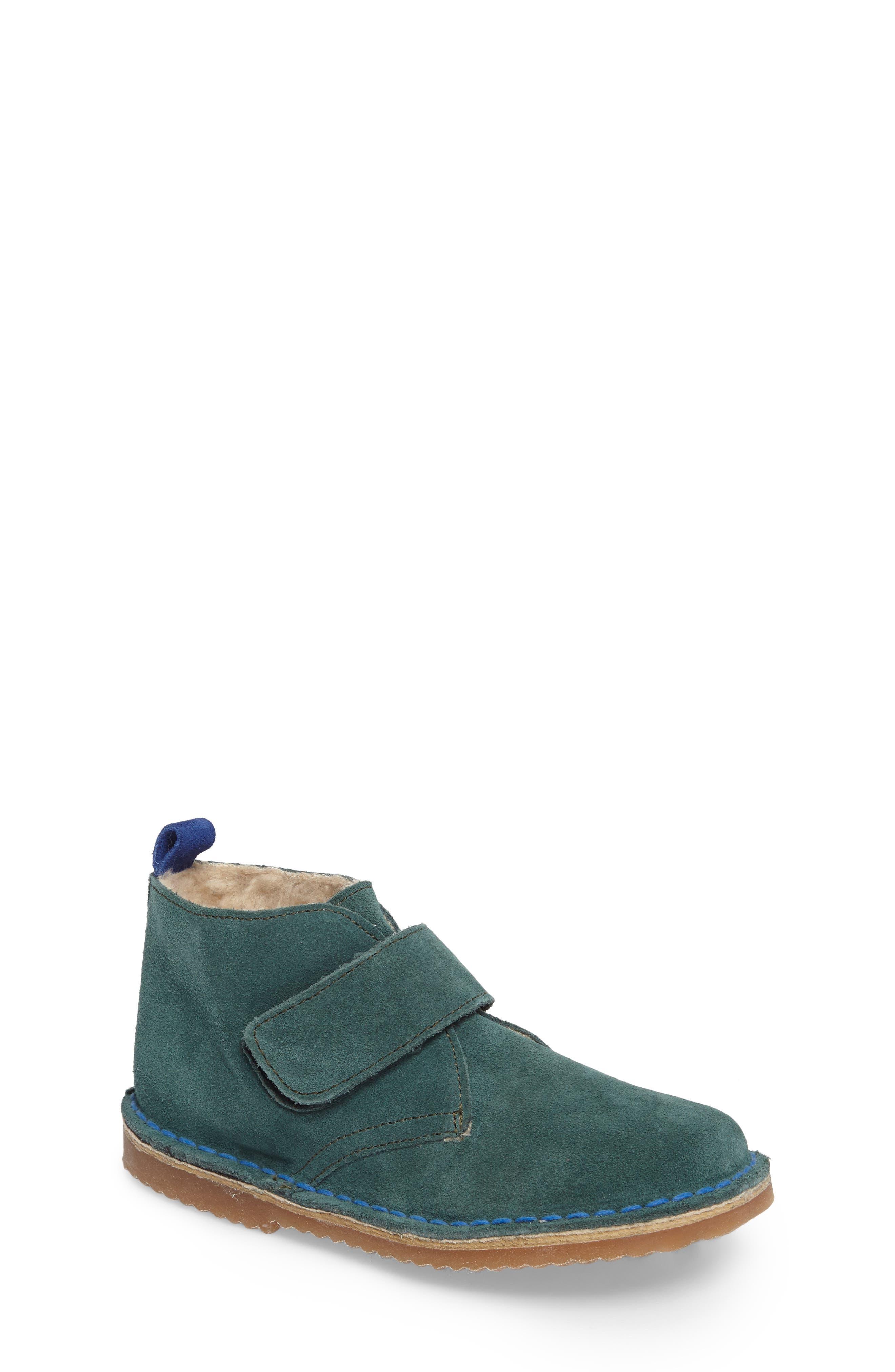 Alternate Image 1 Selected - Mini Boden Faux Fur Desert Boot (Toddler, Little Kid & Big Kid)