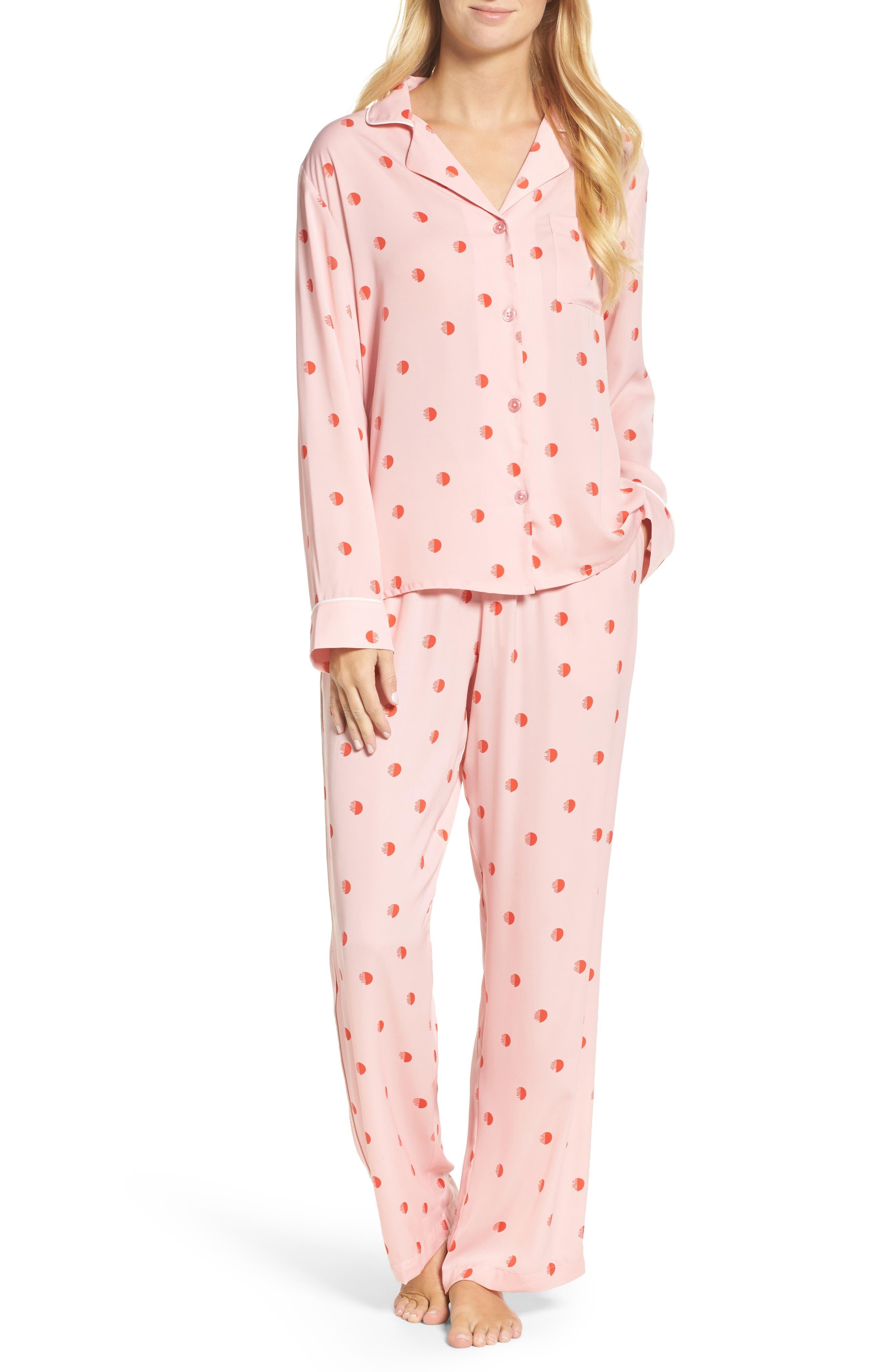 Alternate Image 1 Selected - DKNY Washed Satin Pajamas