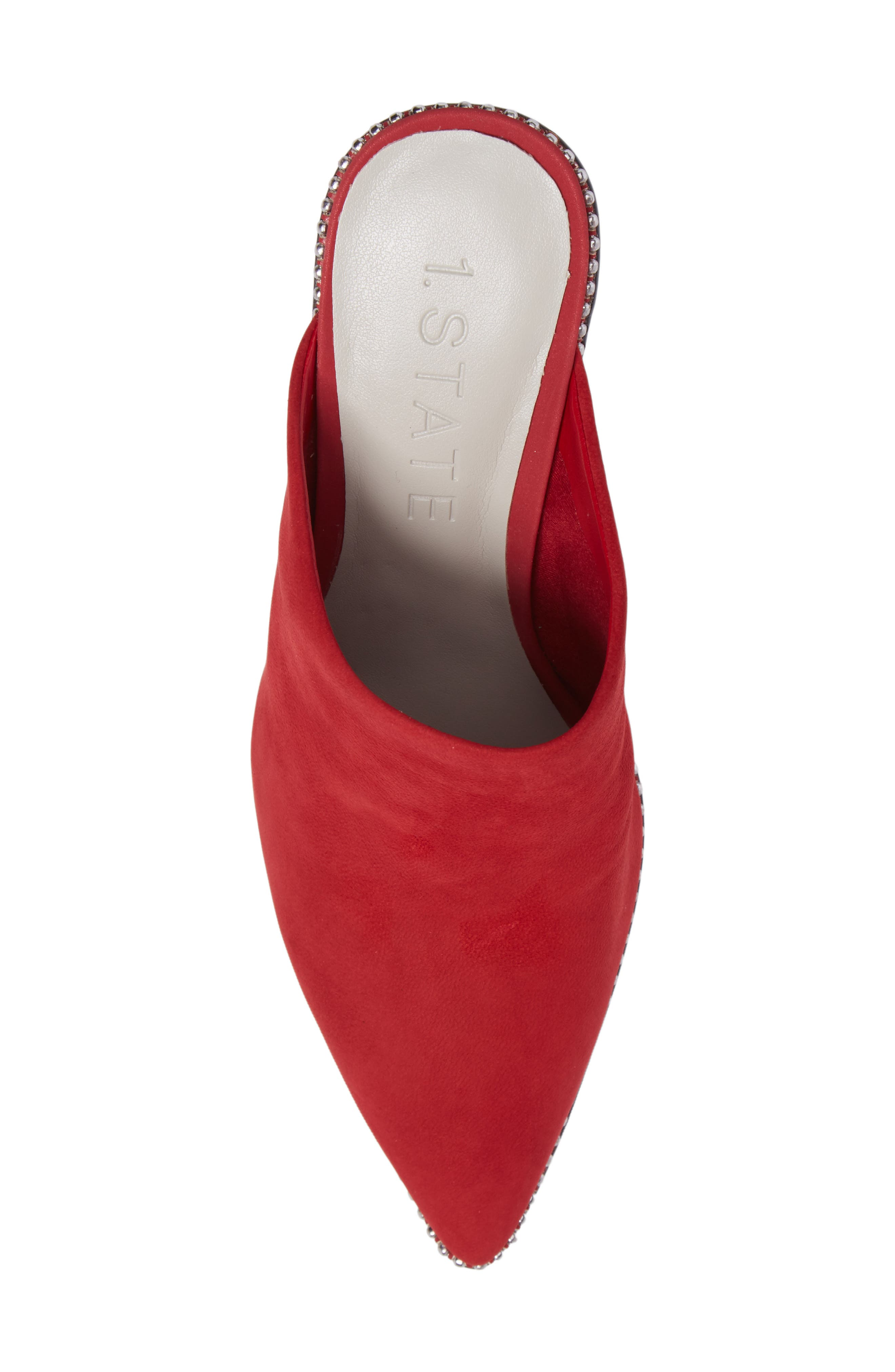 Relle Mule,                             Alternate thumbnail 5, color,                             Scarlet Leather