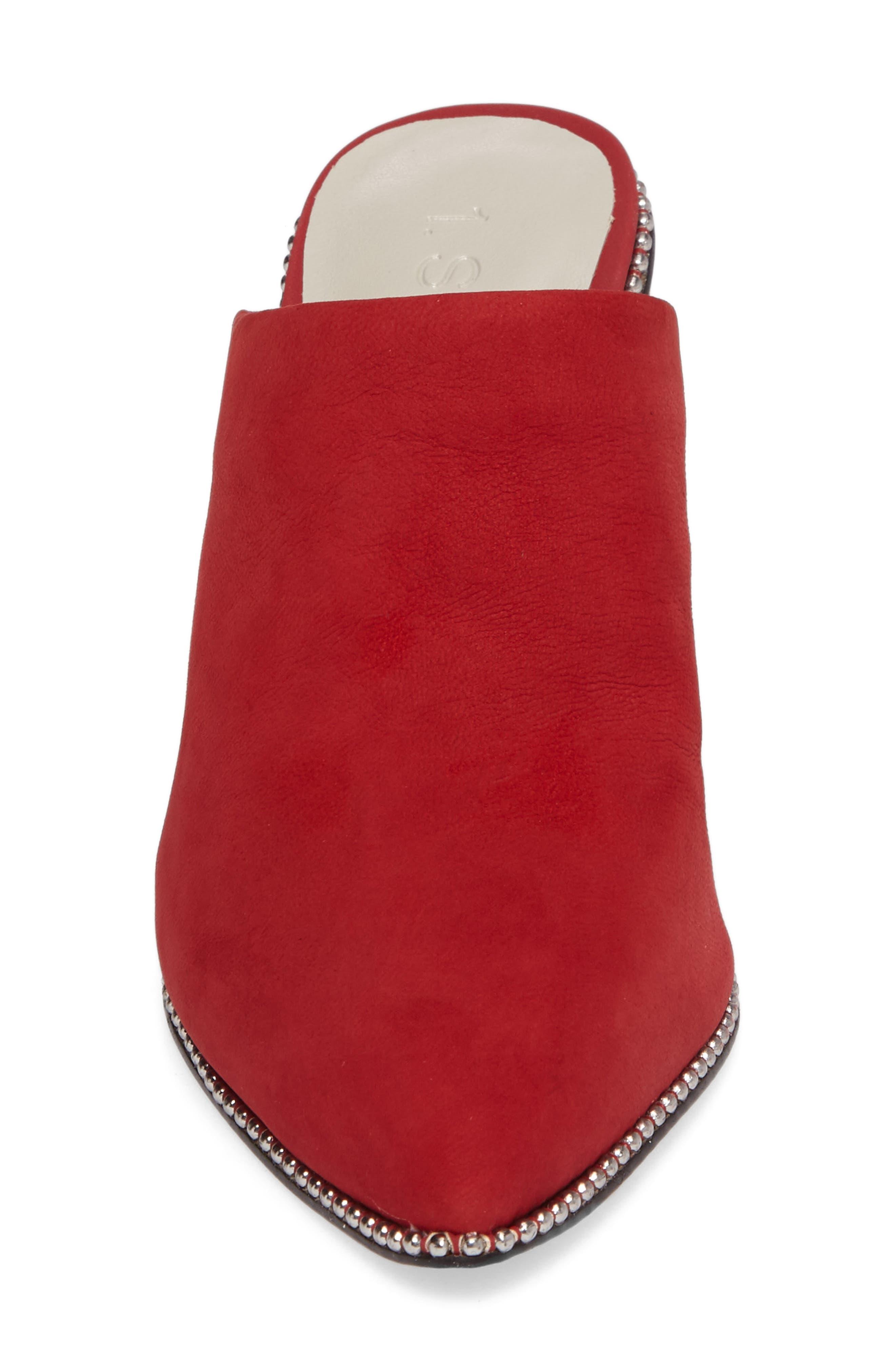 Relle Mule,                             Alternate thumbnail 4, color,                             Scarlet Leather