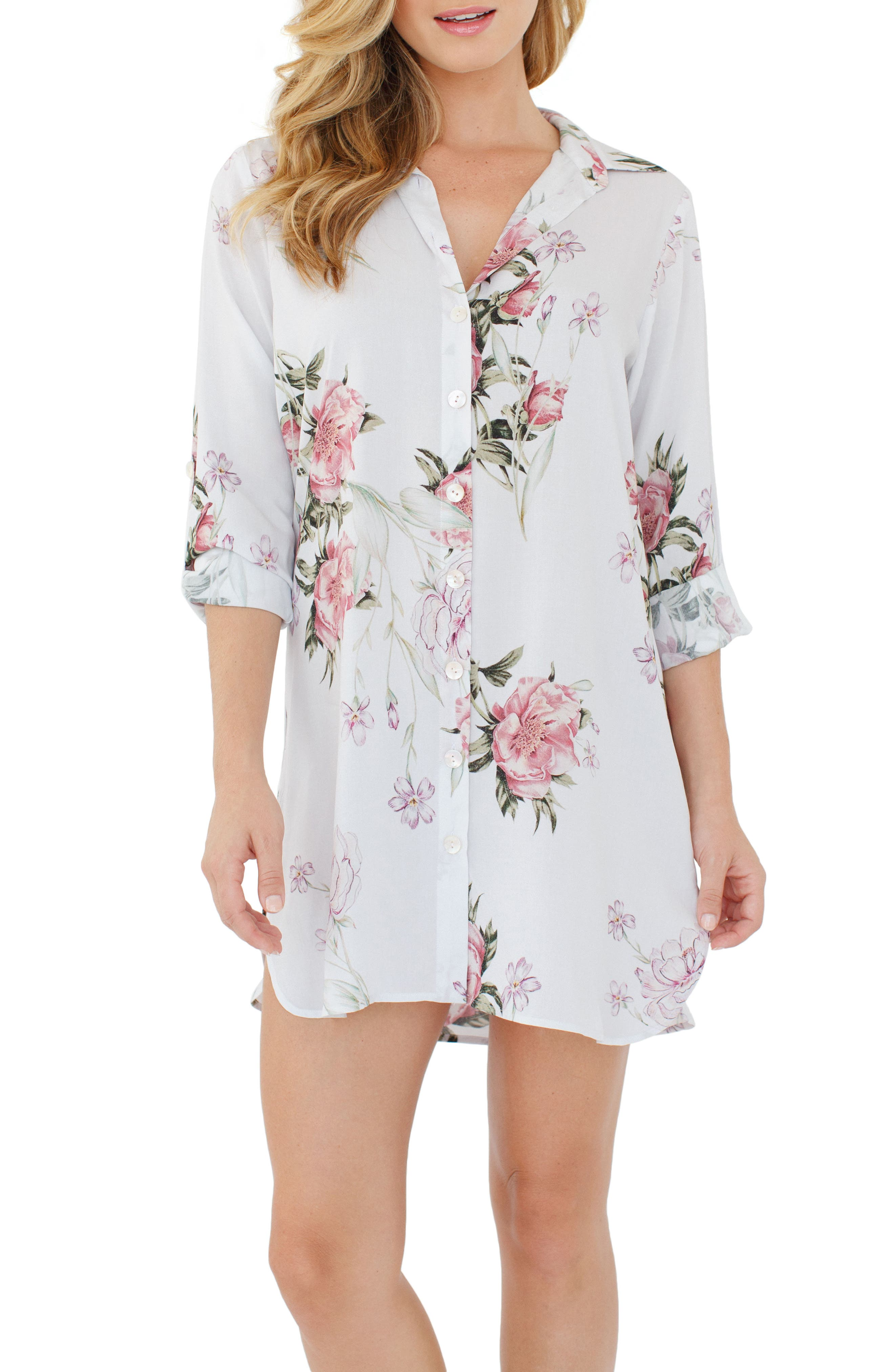 Main Image - Plum Pretty Sugar Floral Nightshirt