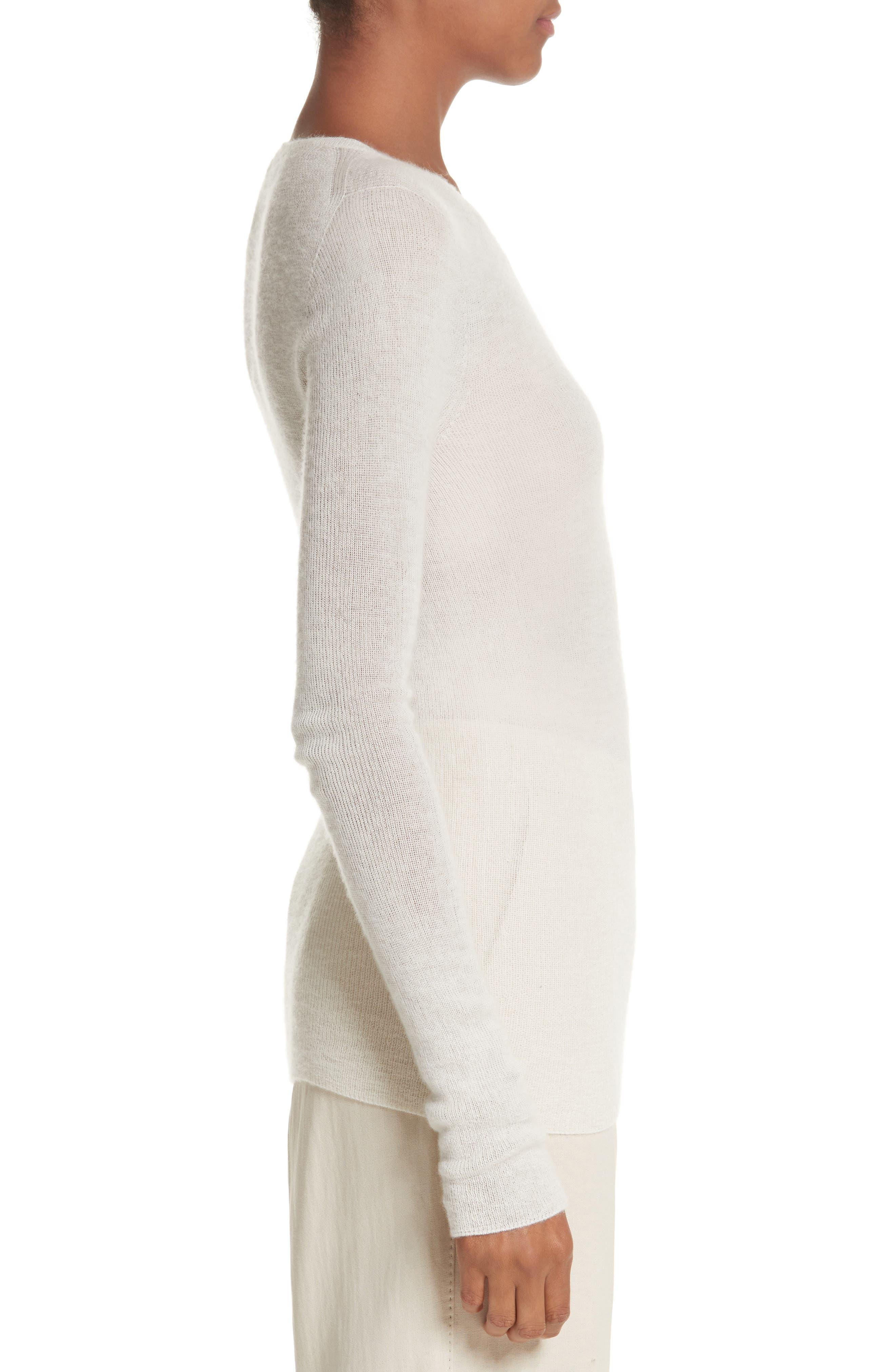 Cabaret Cashmere Sweater,                             Alternate thumbnail 3, color,                             Silk