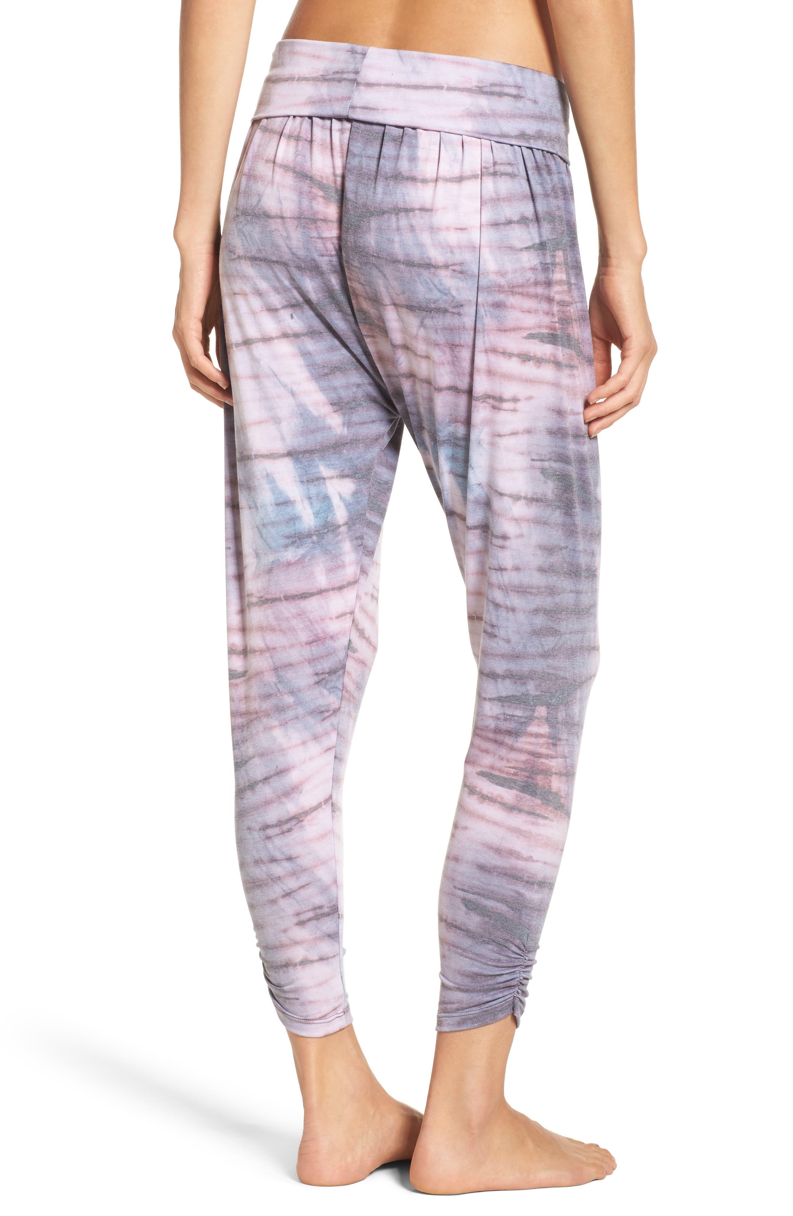Harem Pants,                             Alternate thumbnail 2, color,                             Blush Tie Dye