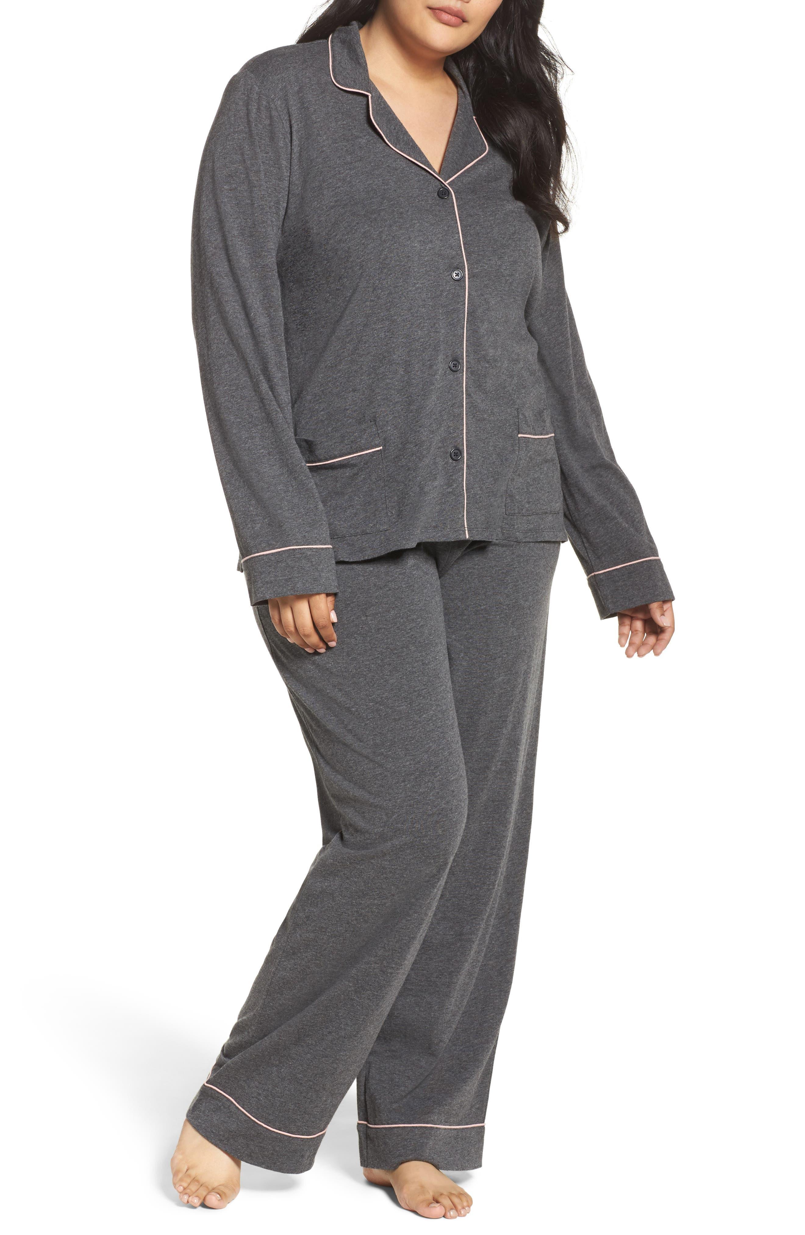 Alternate Image 1 Selected - DKNY Jersey Pajamas (Plus Size)