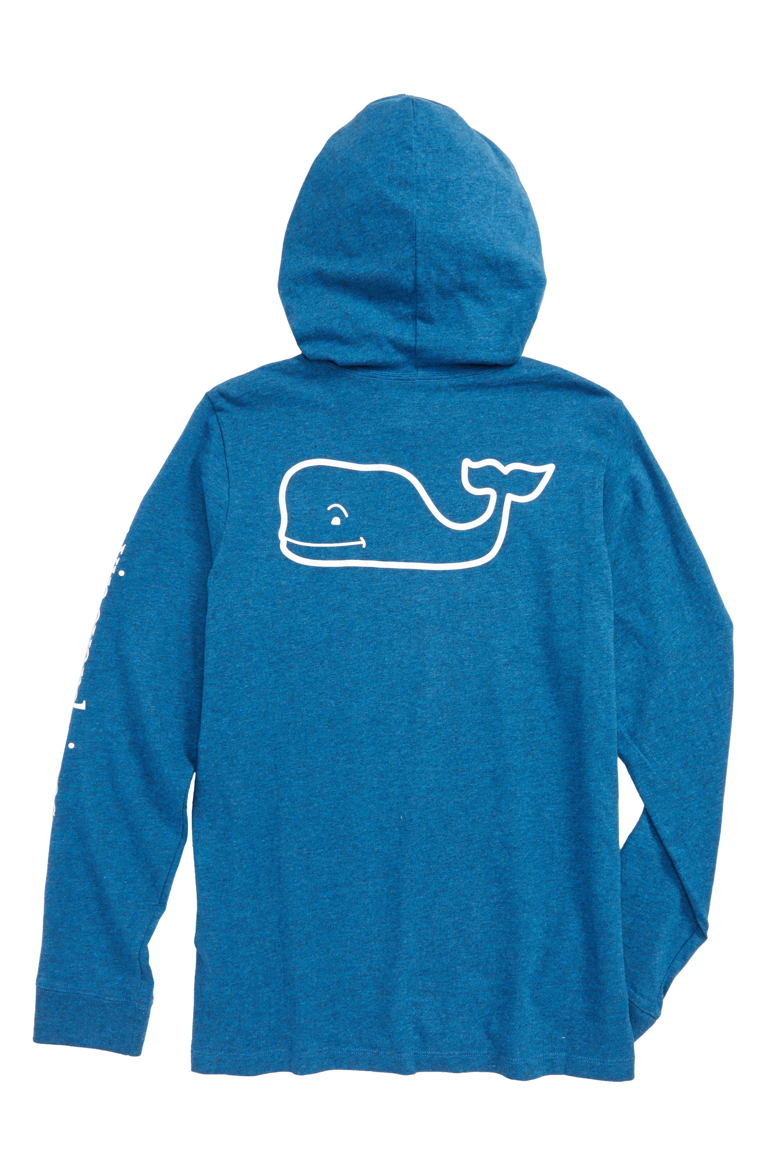 Whale Hooded T-Shirt,                             Alternate thumbnail 2, color,                             Schooner Blue