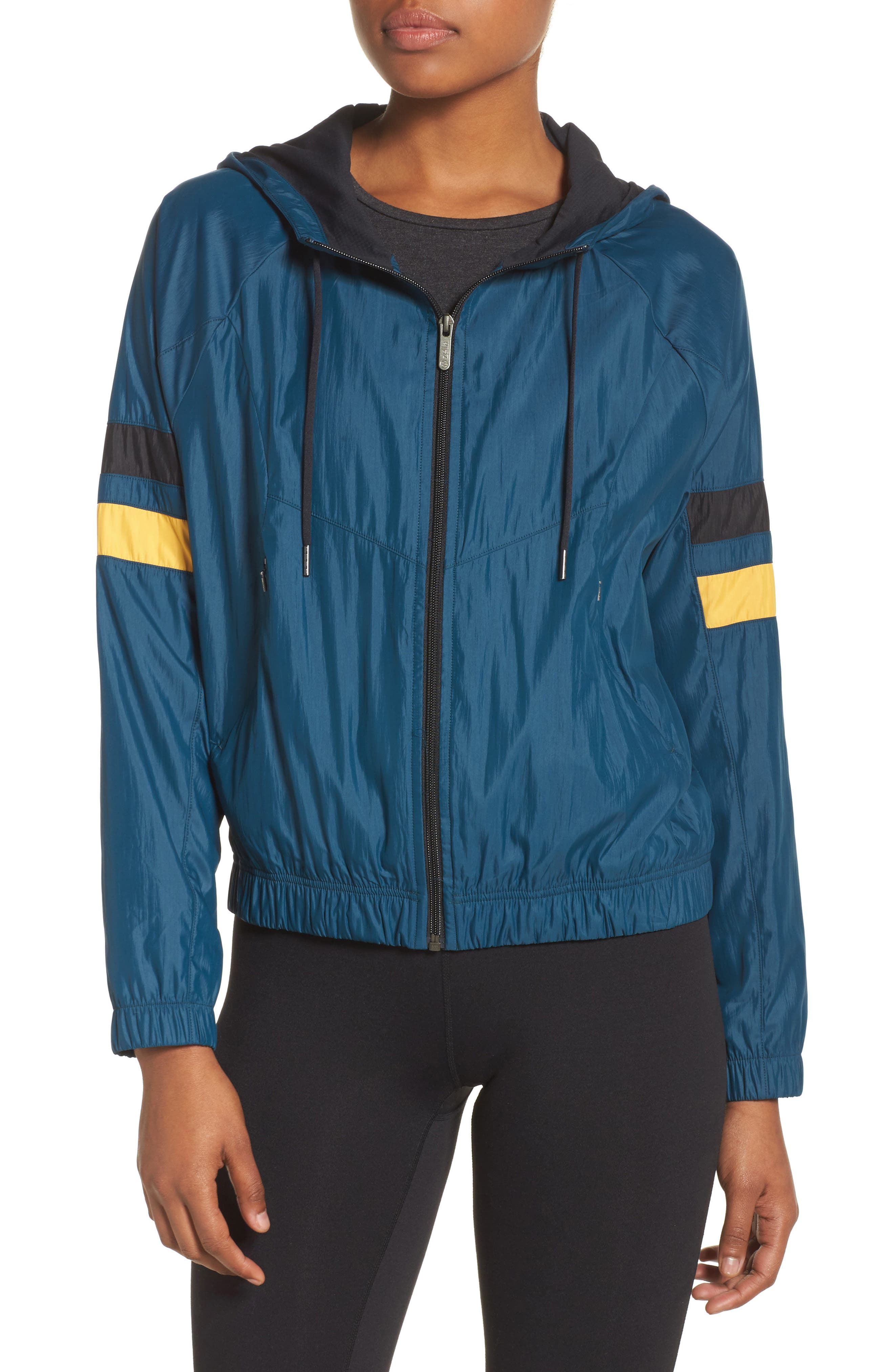Style Game Colorblock Jacket,                         Main,                         color, Teal Abyss