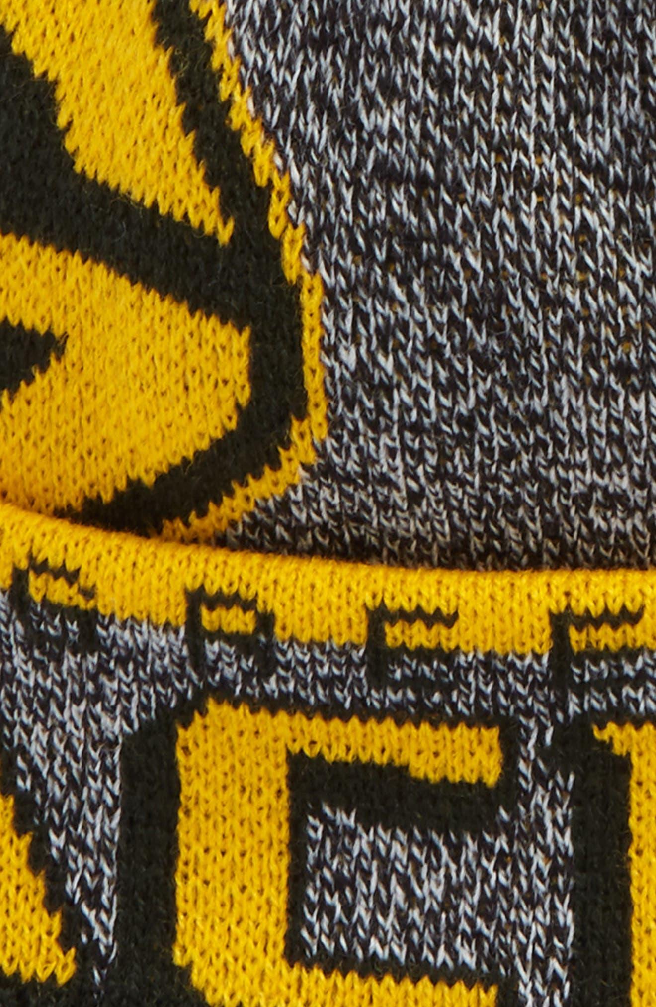 NFL Logo Jacquard Knit Cap,                             Alternate thumbnail 2, color,                             Packers