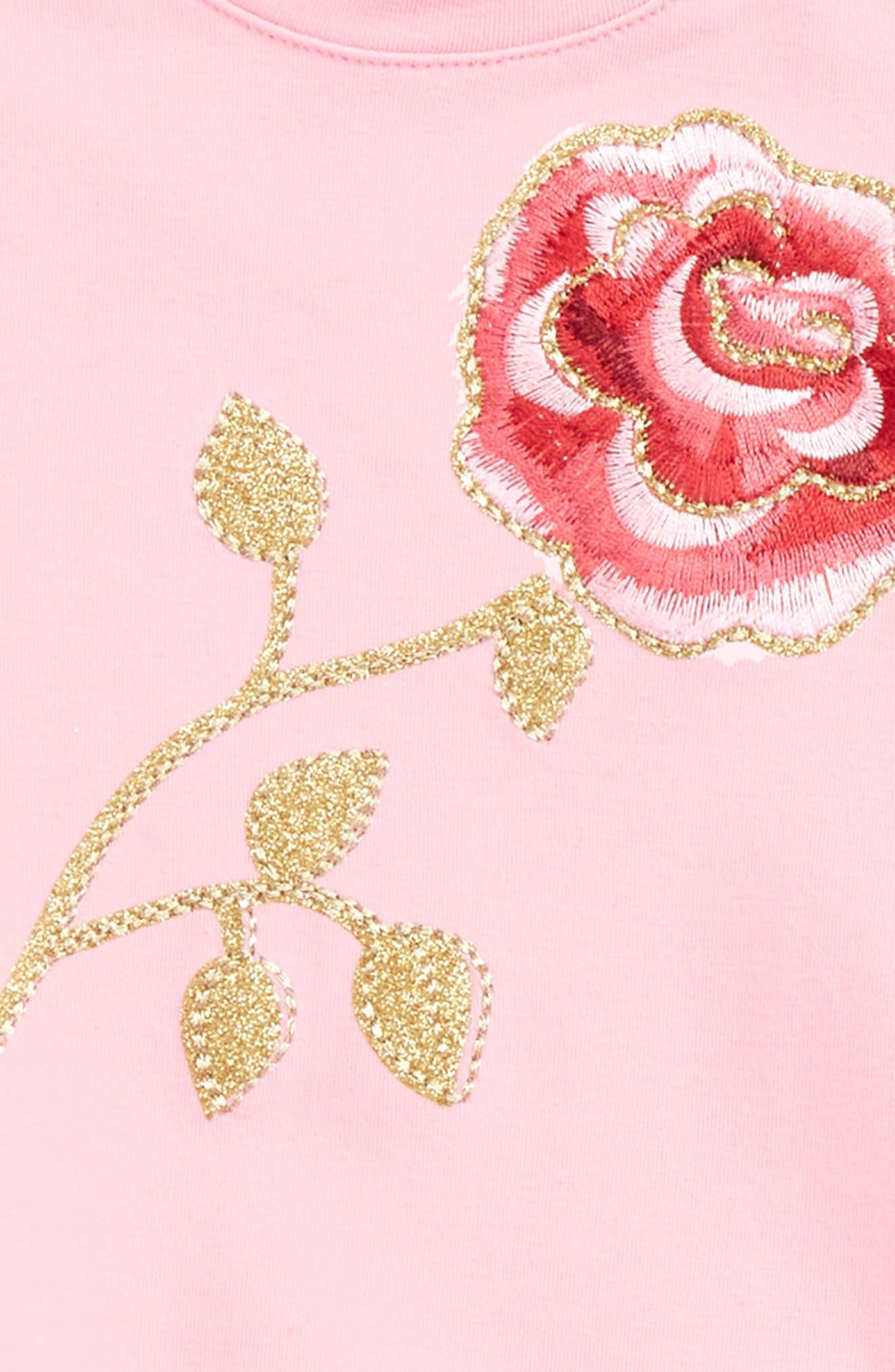 rose sweatshirt dress,                             Alternate thumbnail 2, color,                             Parisian Pink