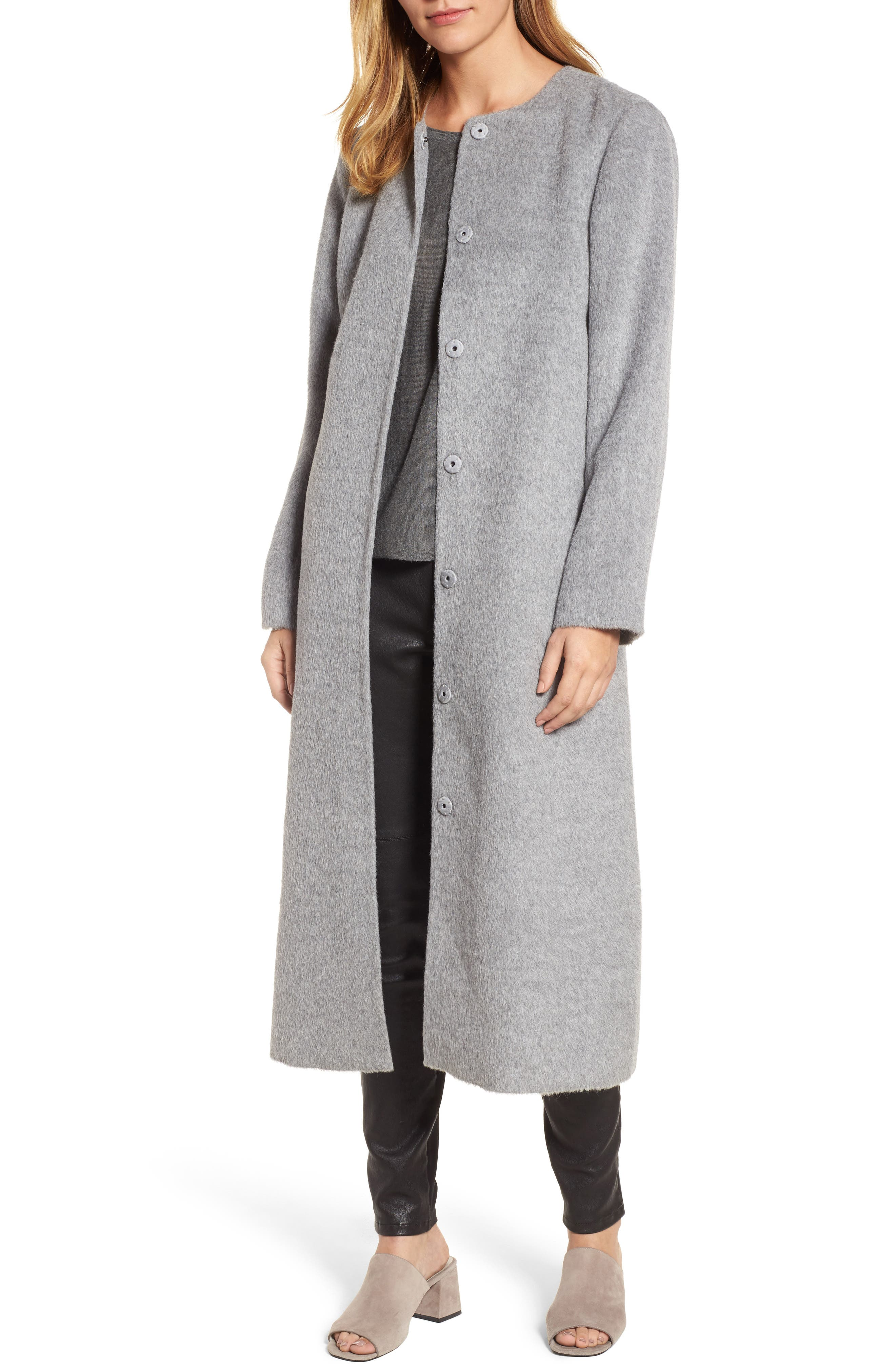 Eileen Fisher Long Alpaca Blend Coat