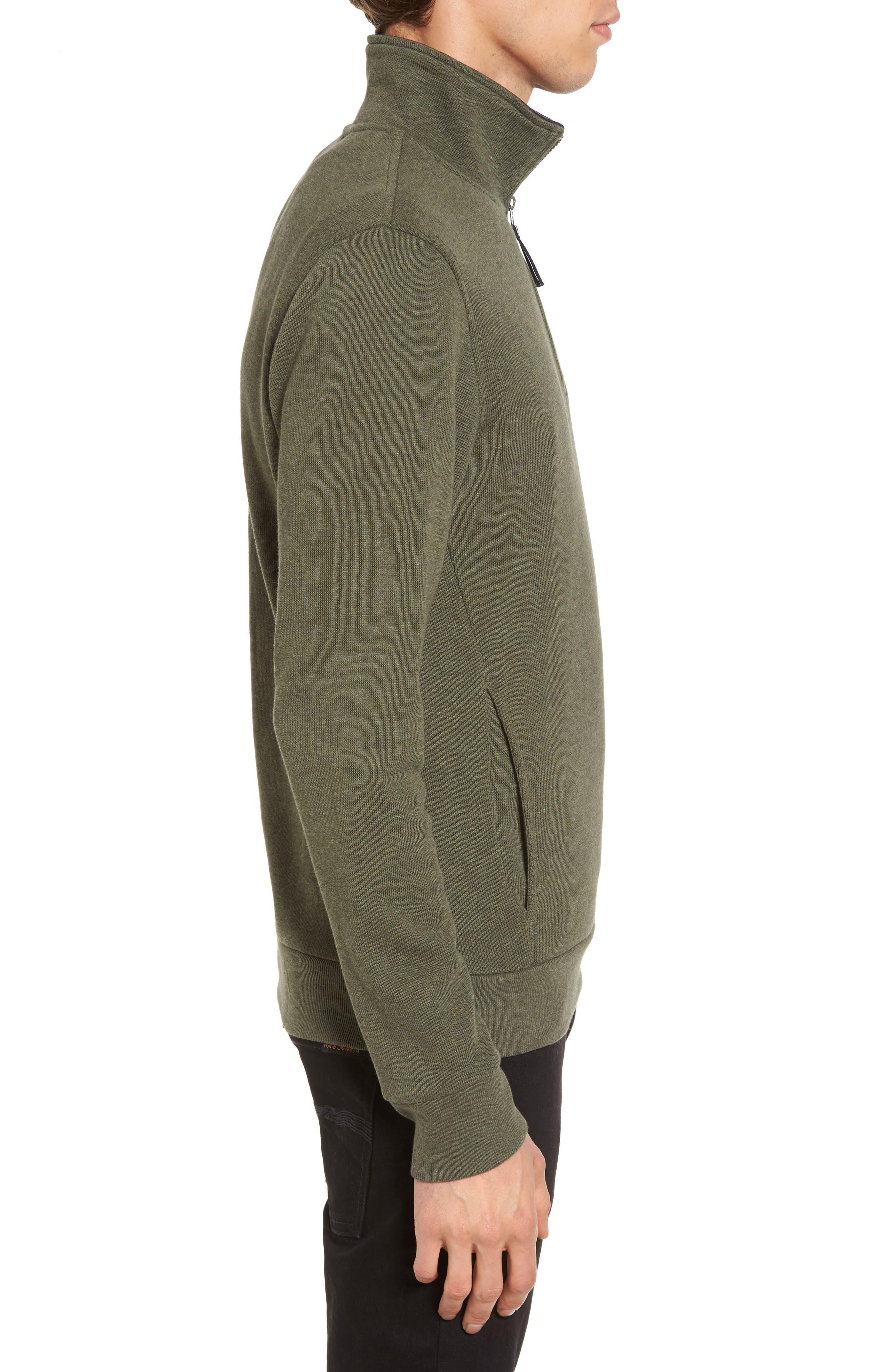 Quarter Zip Sweatshirt,                             Alternate thumbnail 3, color,                             2Qh Army/ Navy Blue