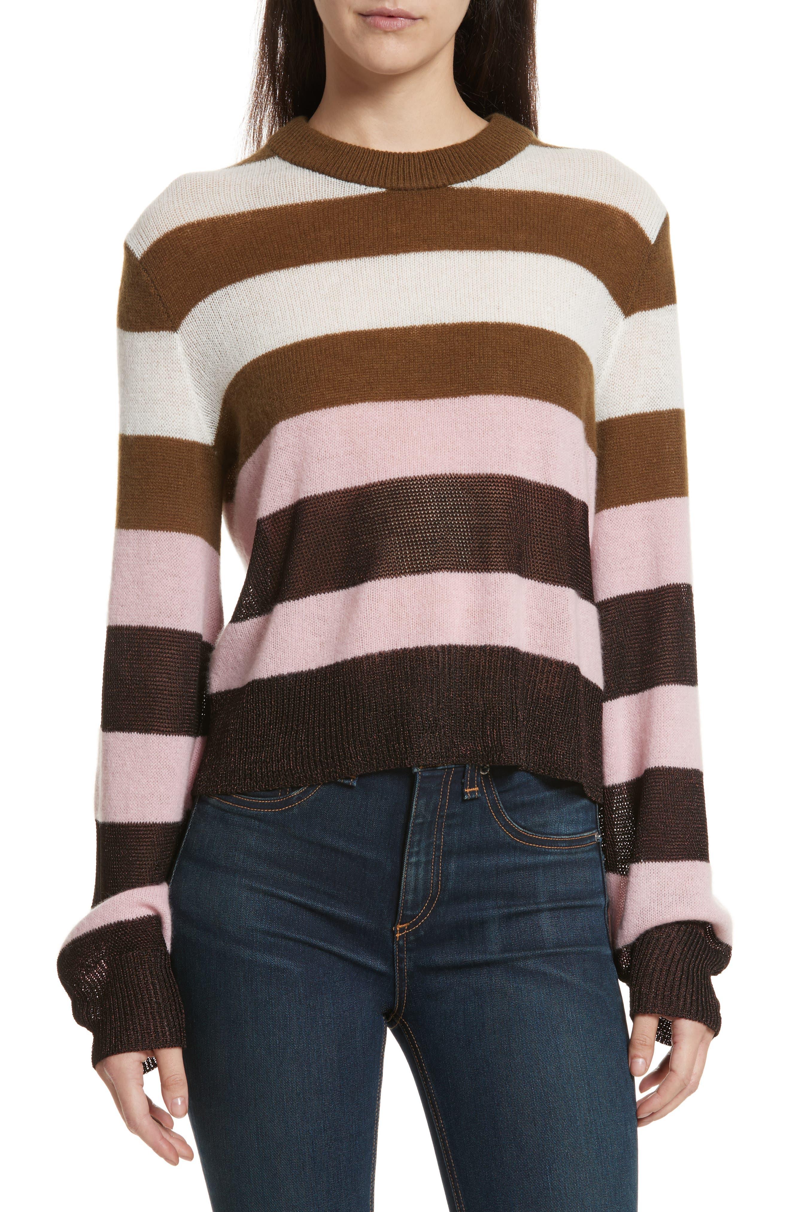 Annika Stripe Sweater,                             Main thumbnail 1, color,                             Pink Multi