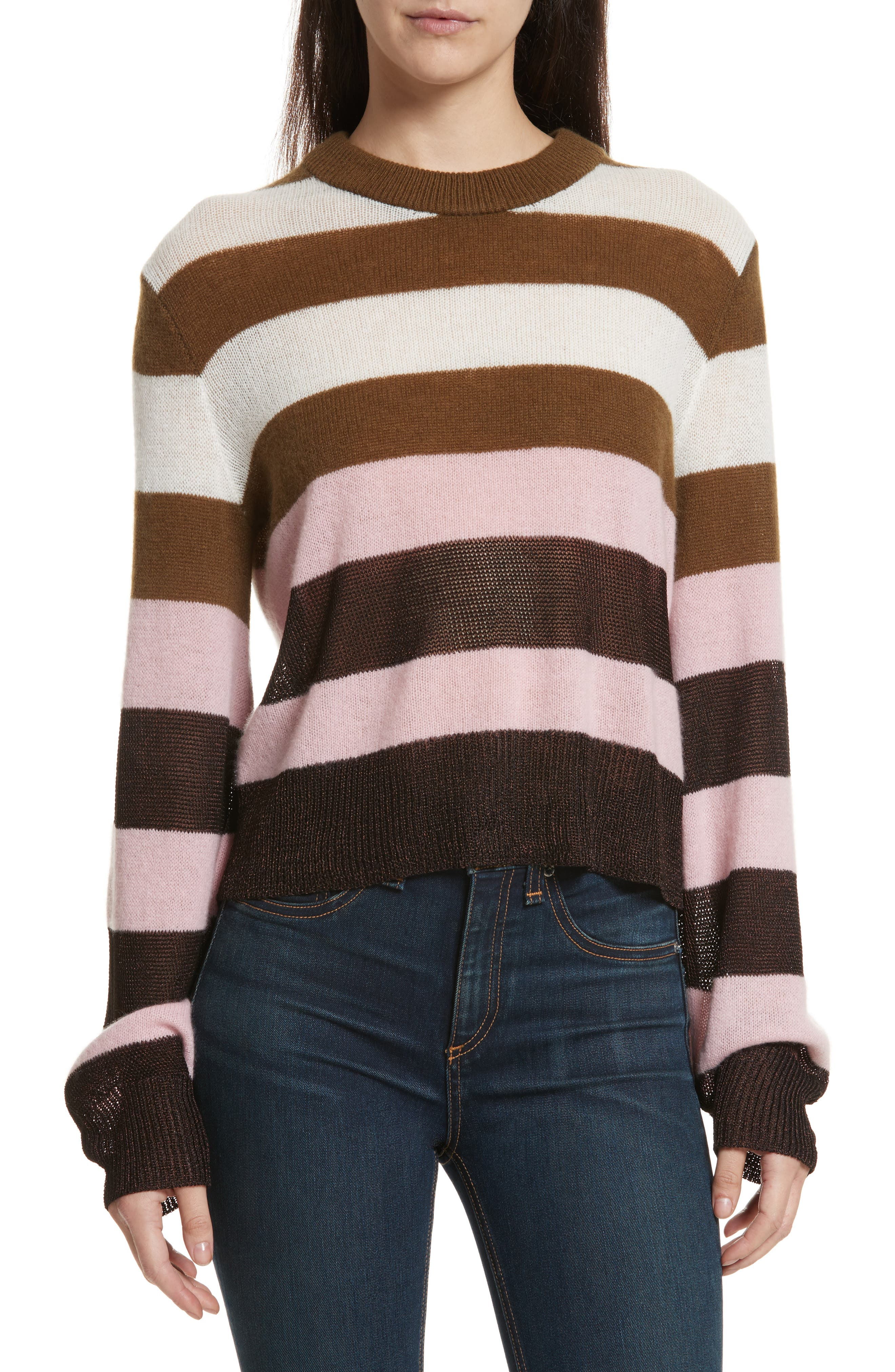 Annika Stripe Sweater,                         Main,                         color, Pink Multi
