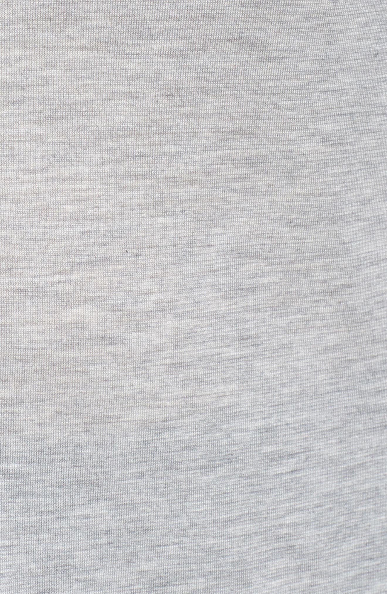 Long Sleeve Ruffle Shoulder Top,                             Alternate thumbnail 5, color,                             Light Heather Grey