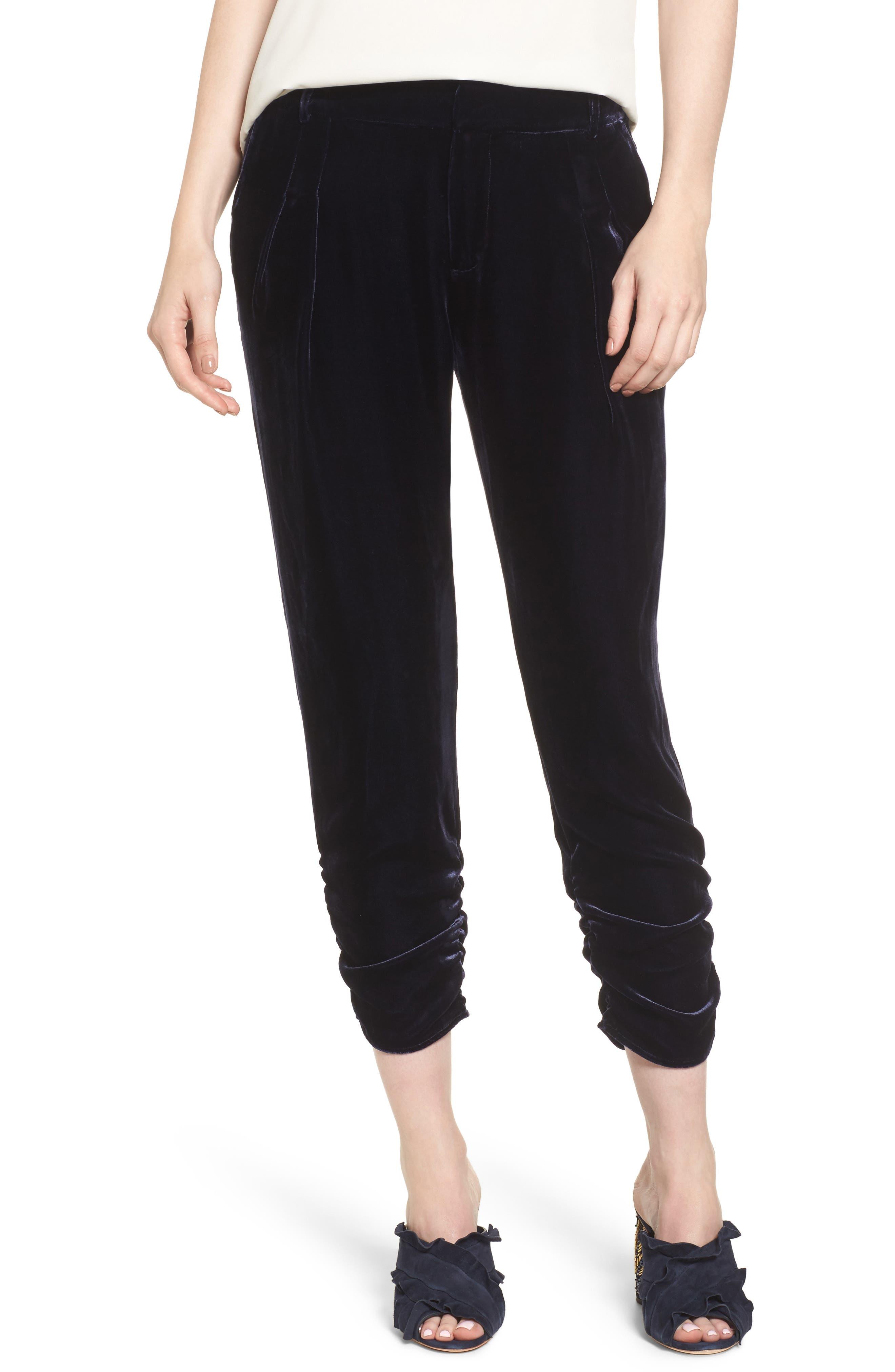 Devlin Velvet Pants,                         Main,                         color, Adriatic