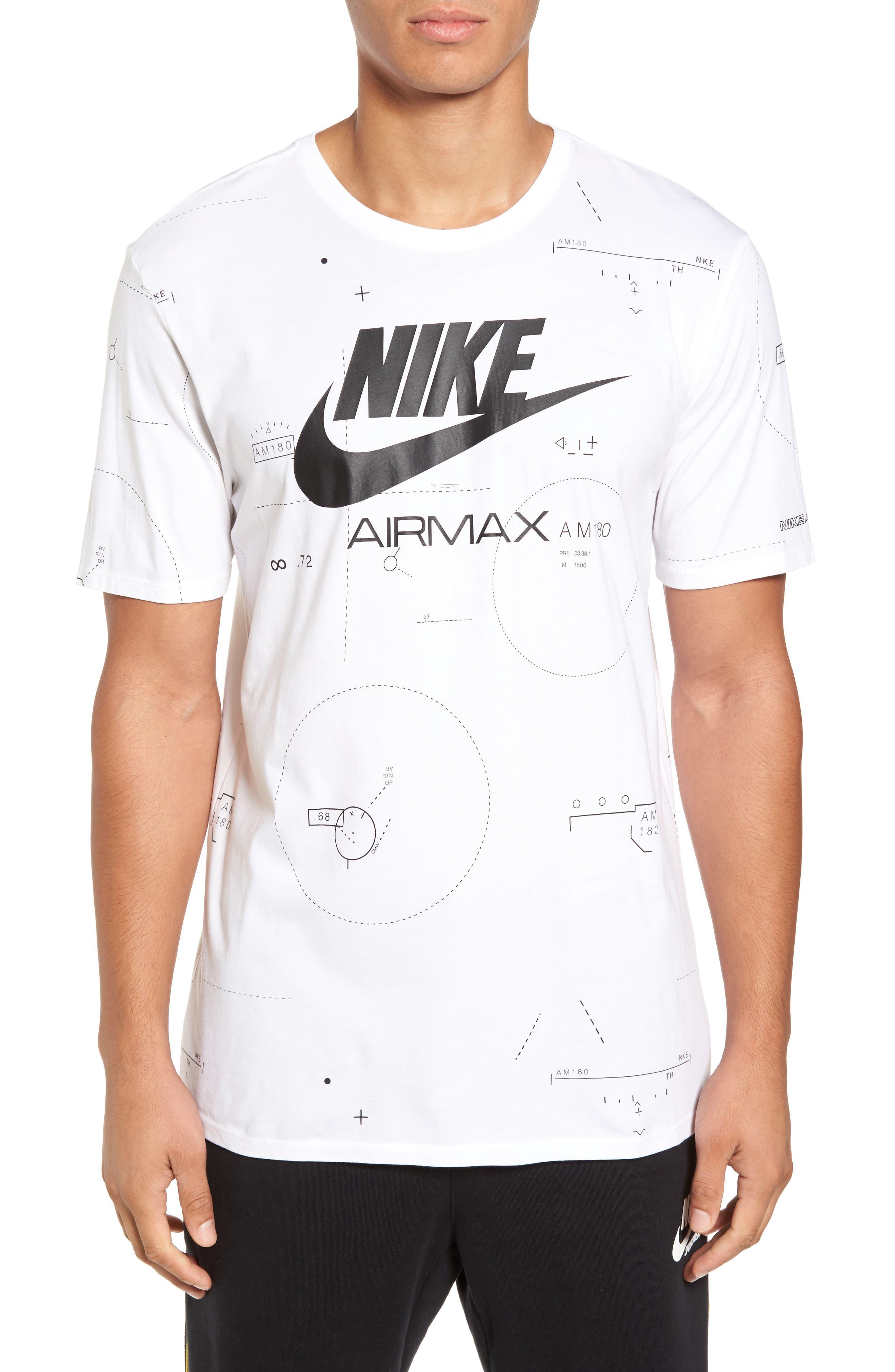 NSW Air Max 2 T-Shirt,                             Main thumbnail 1, color,                             White/ Black