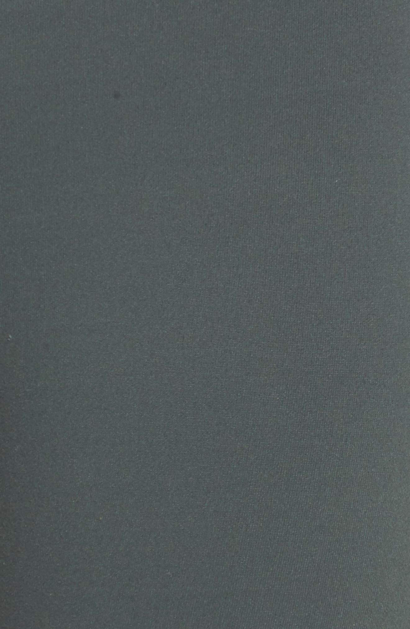 Back Track High Waist Midi Leggings,                             Alternate thumbnail 6, color,                             Grey Urban