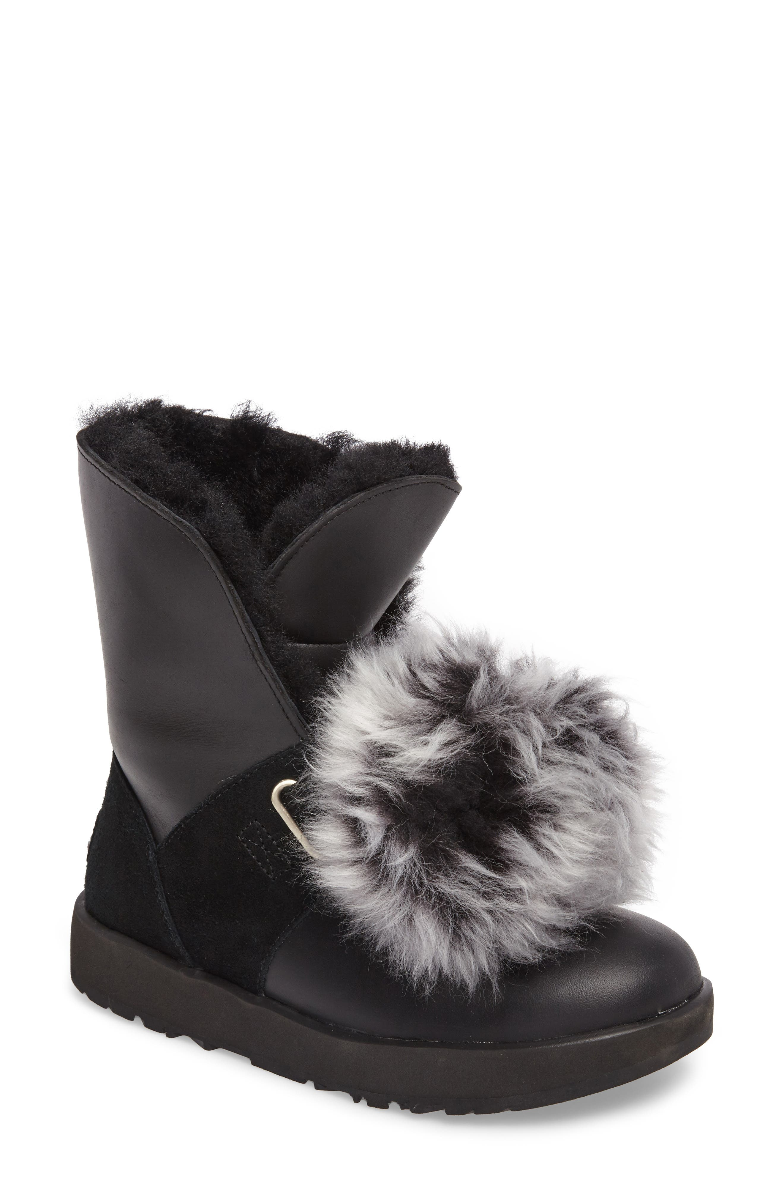 UGG® Isley Genuine Shearling Pompom Waterproof Boot (Women)