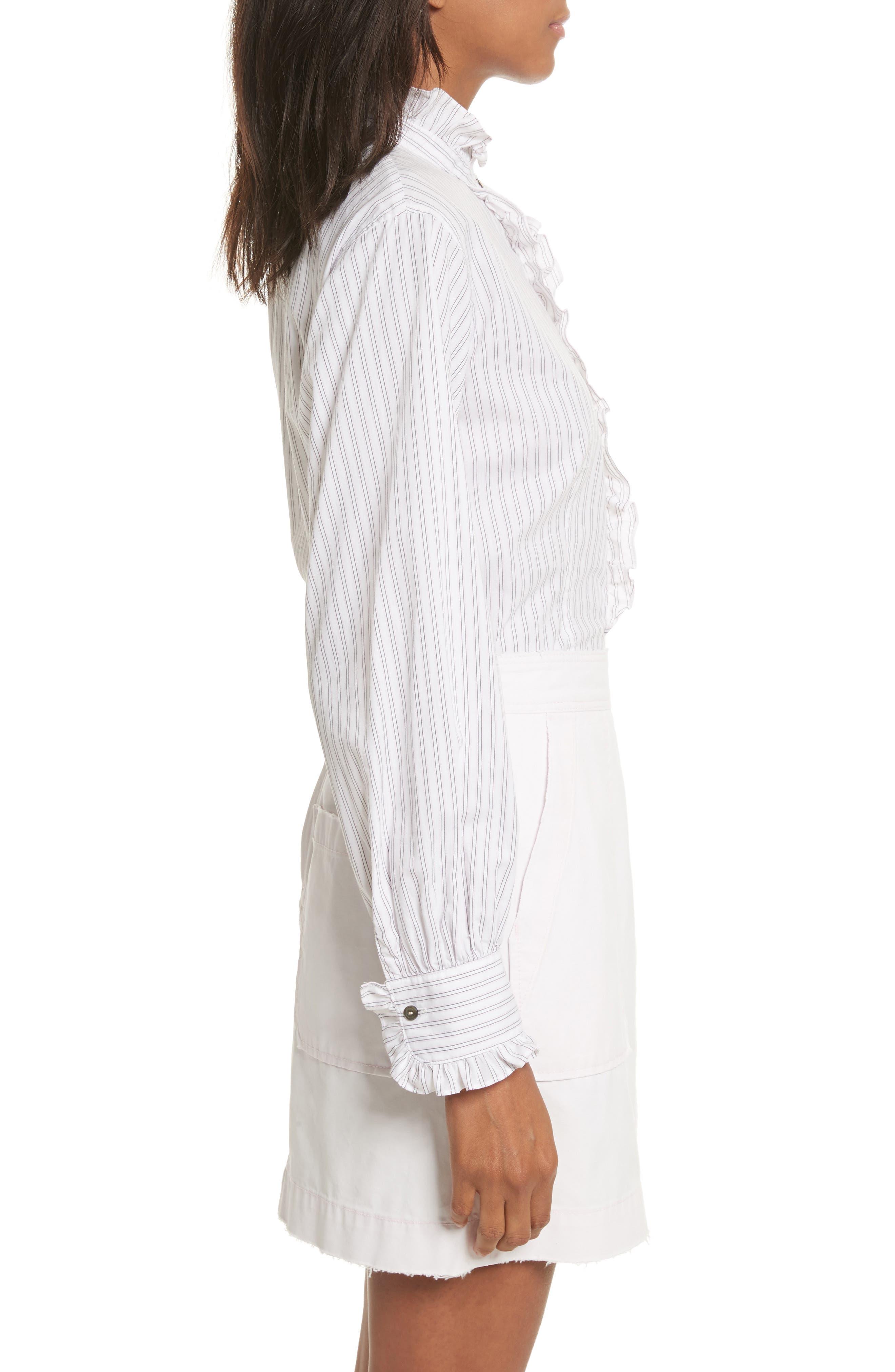 Alternate Image 3  - La Vie Rebecca Taylor Gigi Stripe Top