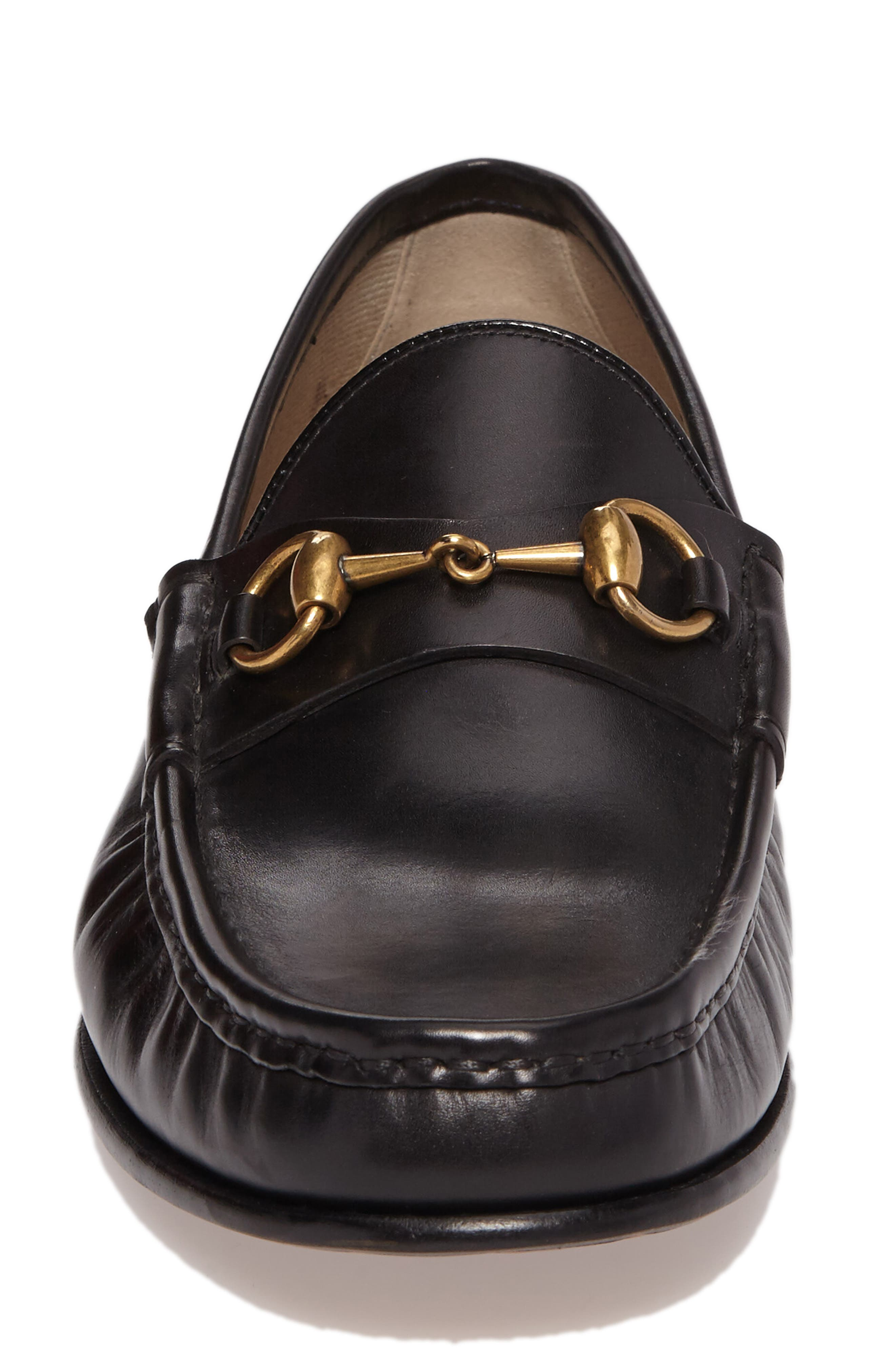 'Roos' Bit Loafer,                             Alternate thumbnail 4, color,                             Nero