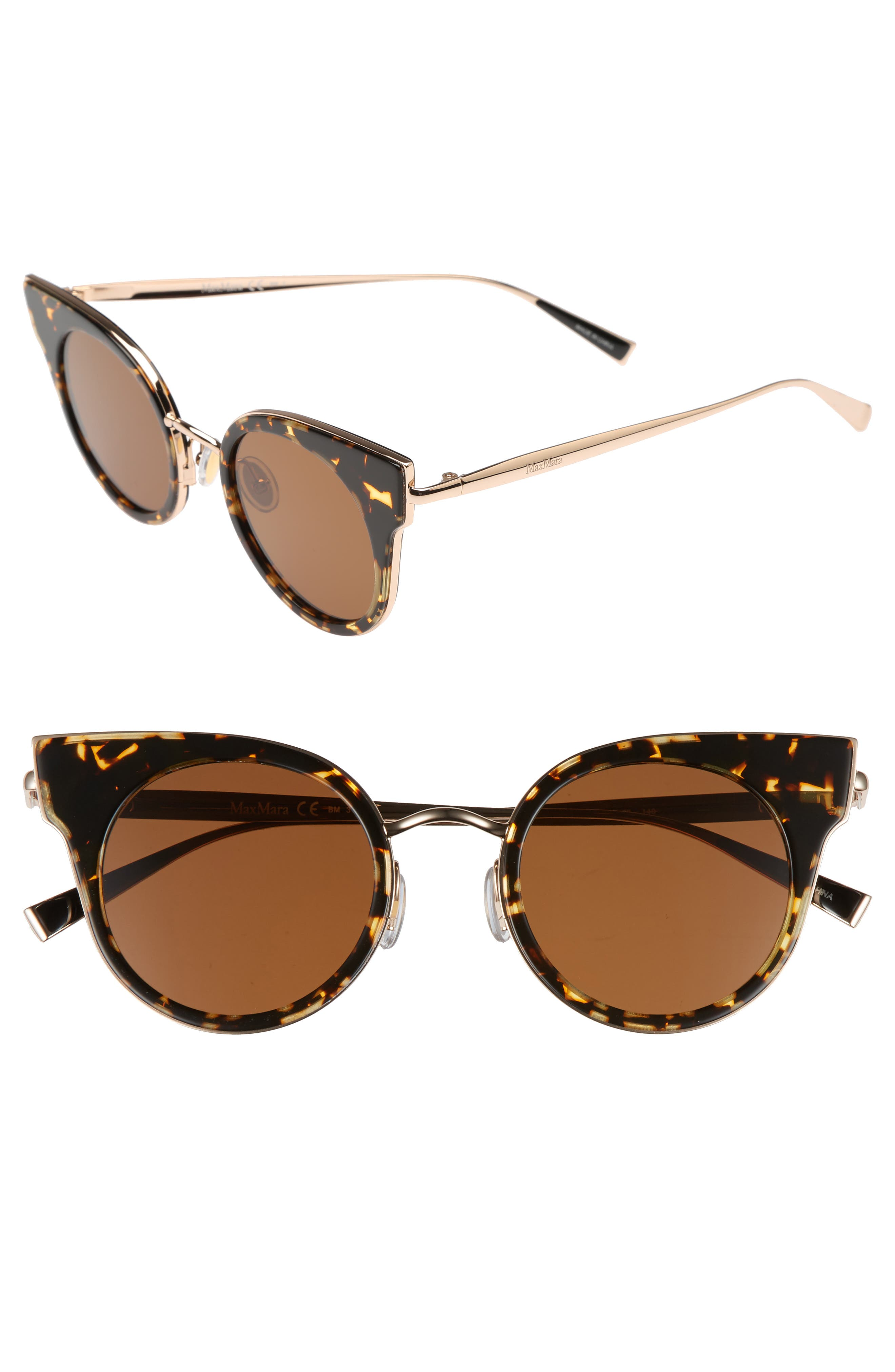 Ilde 46mm Cat Eye Sunglasses,                         Main,                         color, Havana Gold
