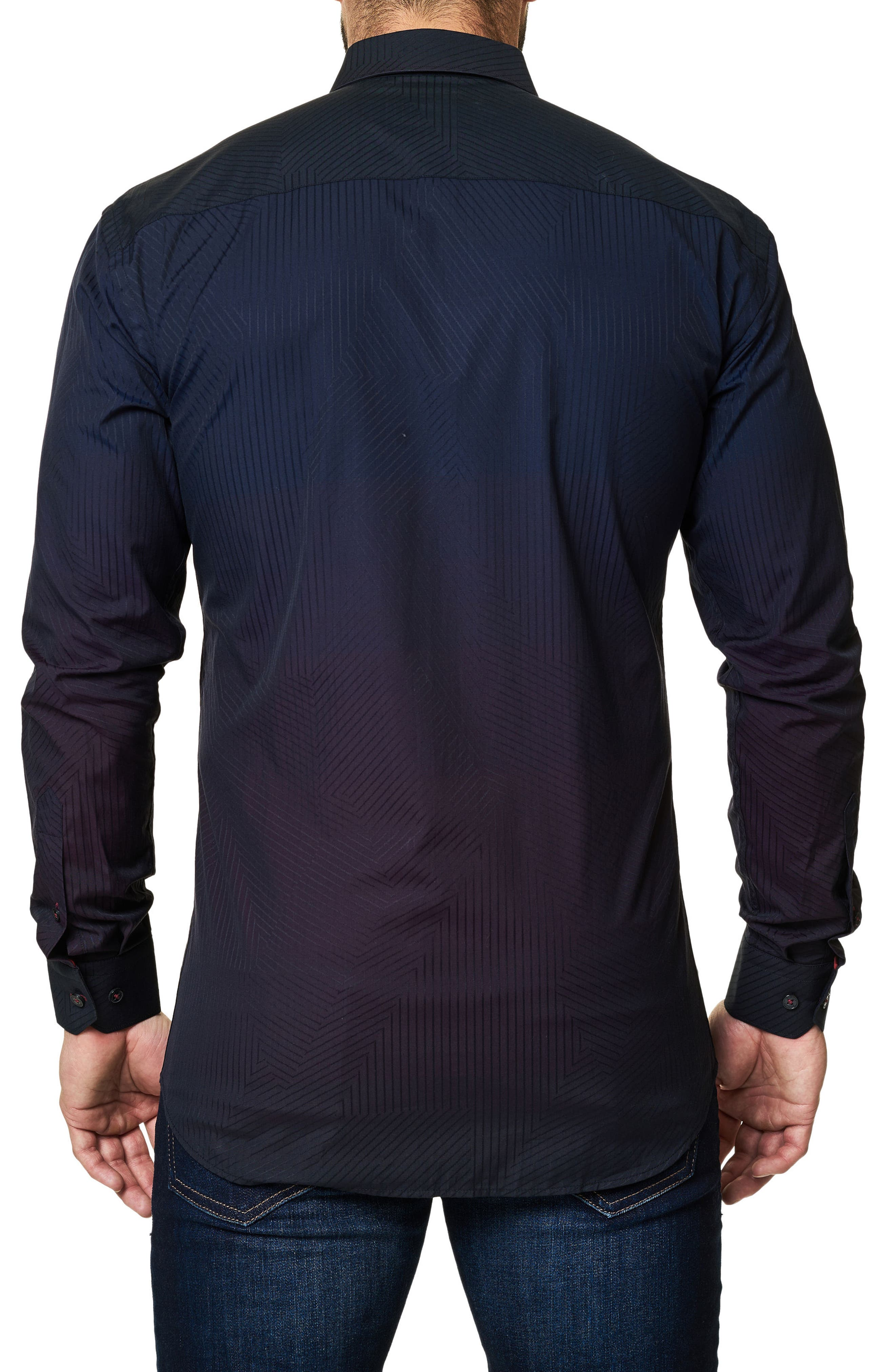 Alternate Image 2  - Maceoo Print Trim Fit Sport Shirt