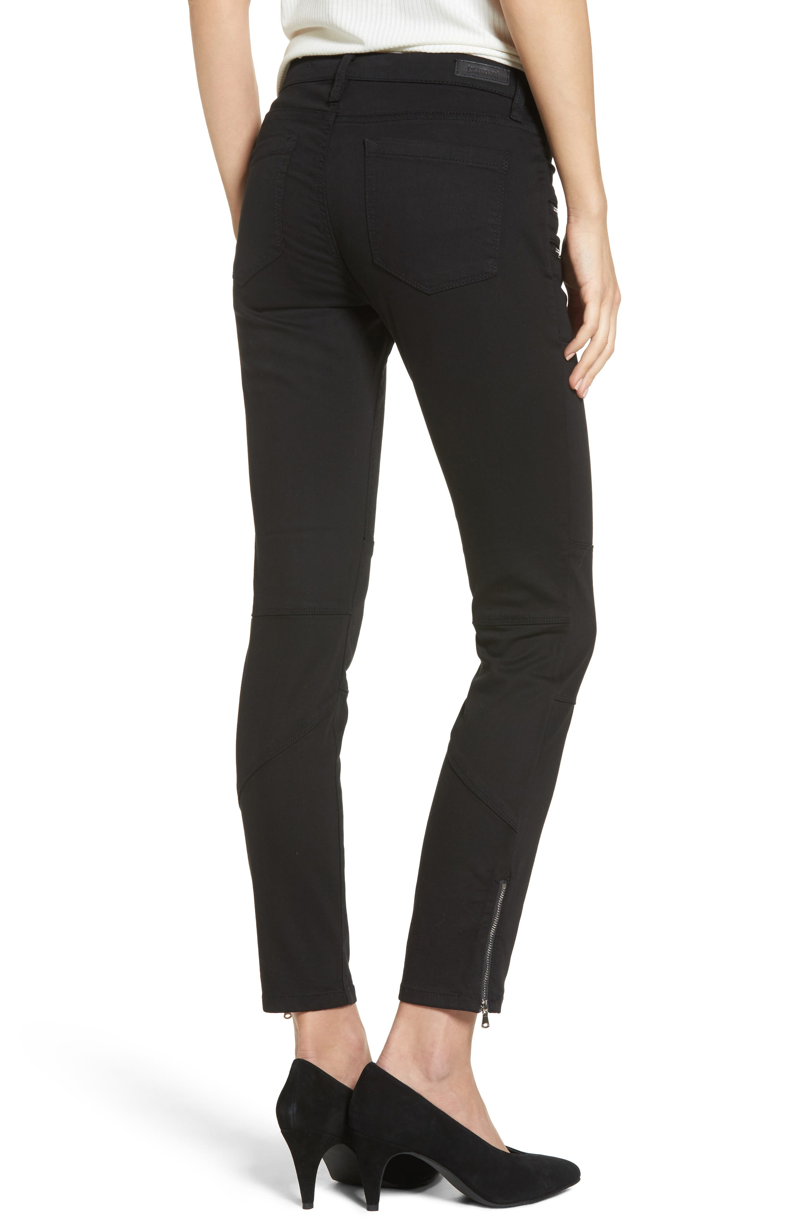 Private Party Skinny Jeans,                             Alternate thumbnail 2, color,                             Black
