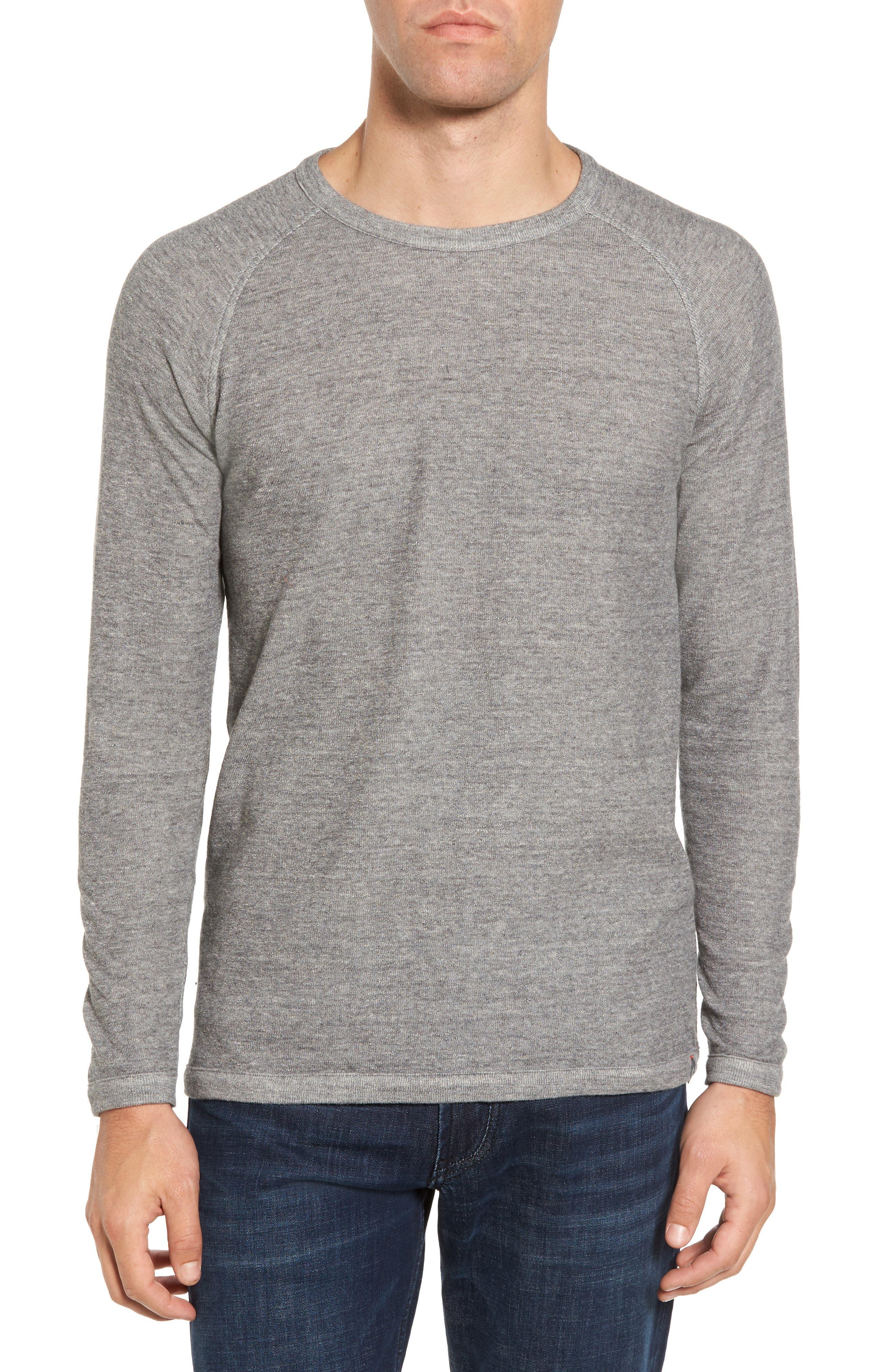Jensen Double Cloth Crewneck Shirt,                             Main thumbnail 1, color,                             Grey