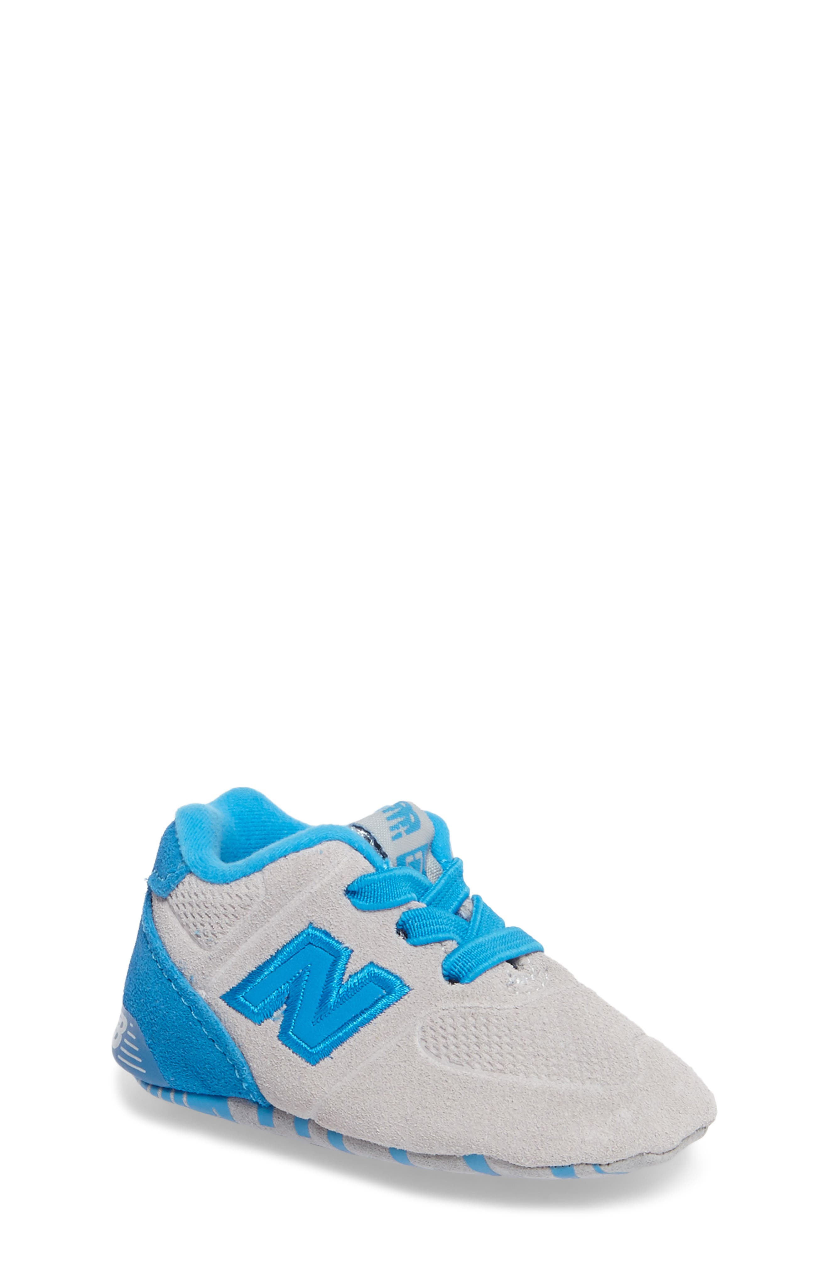 547 Crib Shoe,                             Main thumbnail 1, color,                             Blue/ Grey