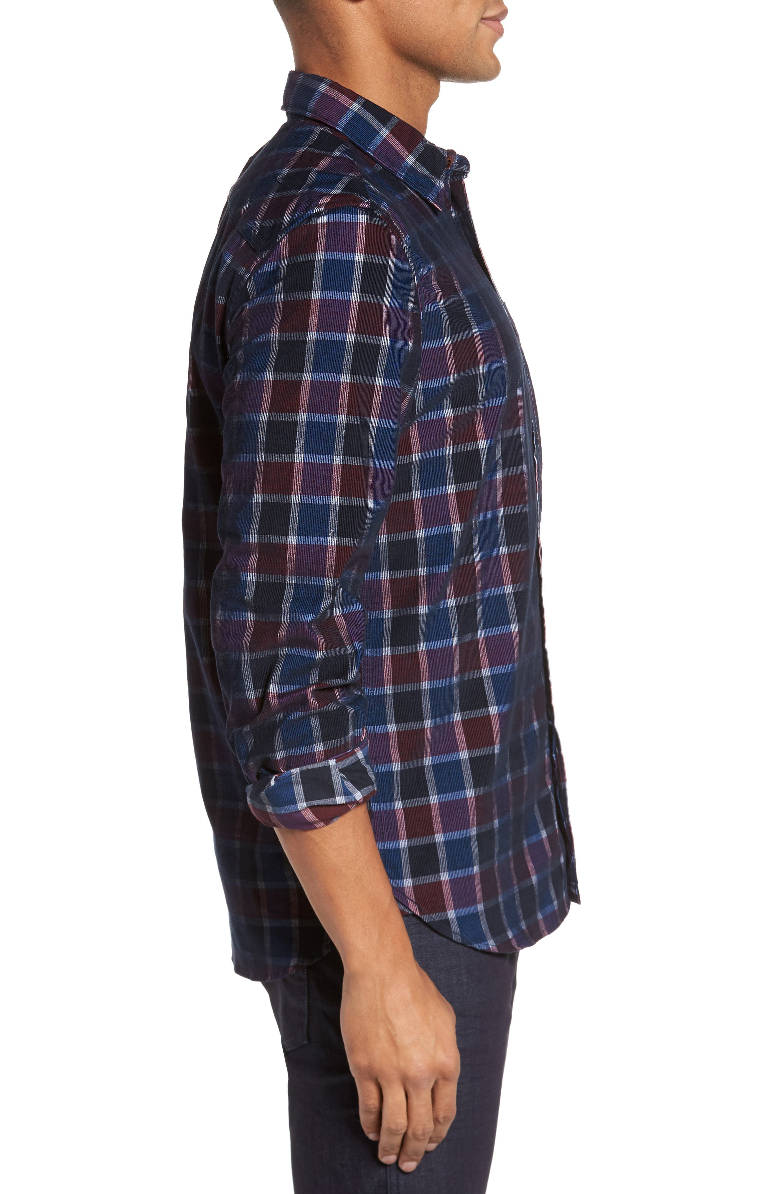 Alternate Image 3  - French Connection Plaid Corduroy Sport Shirt