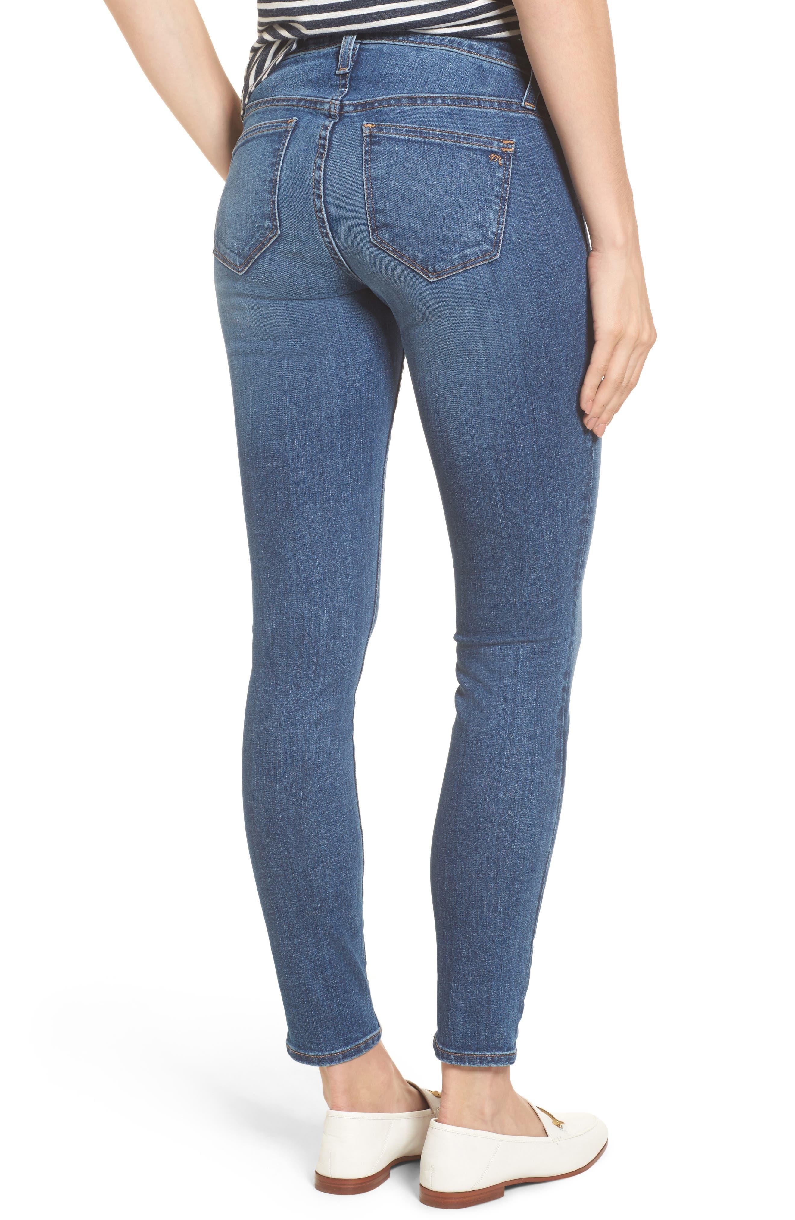 Maternity Skinny Jeans,                             Alternate thumbnail 2, color,                             Juliet Wash