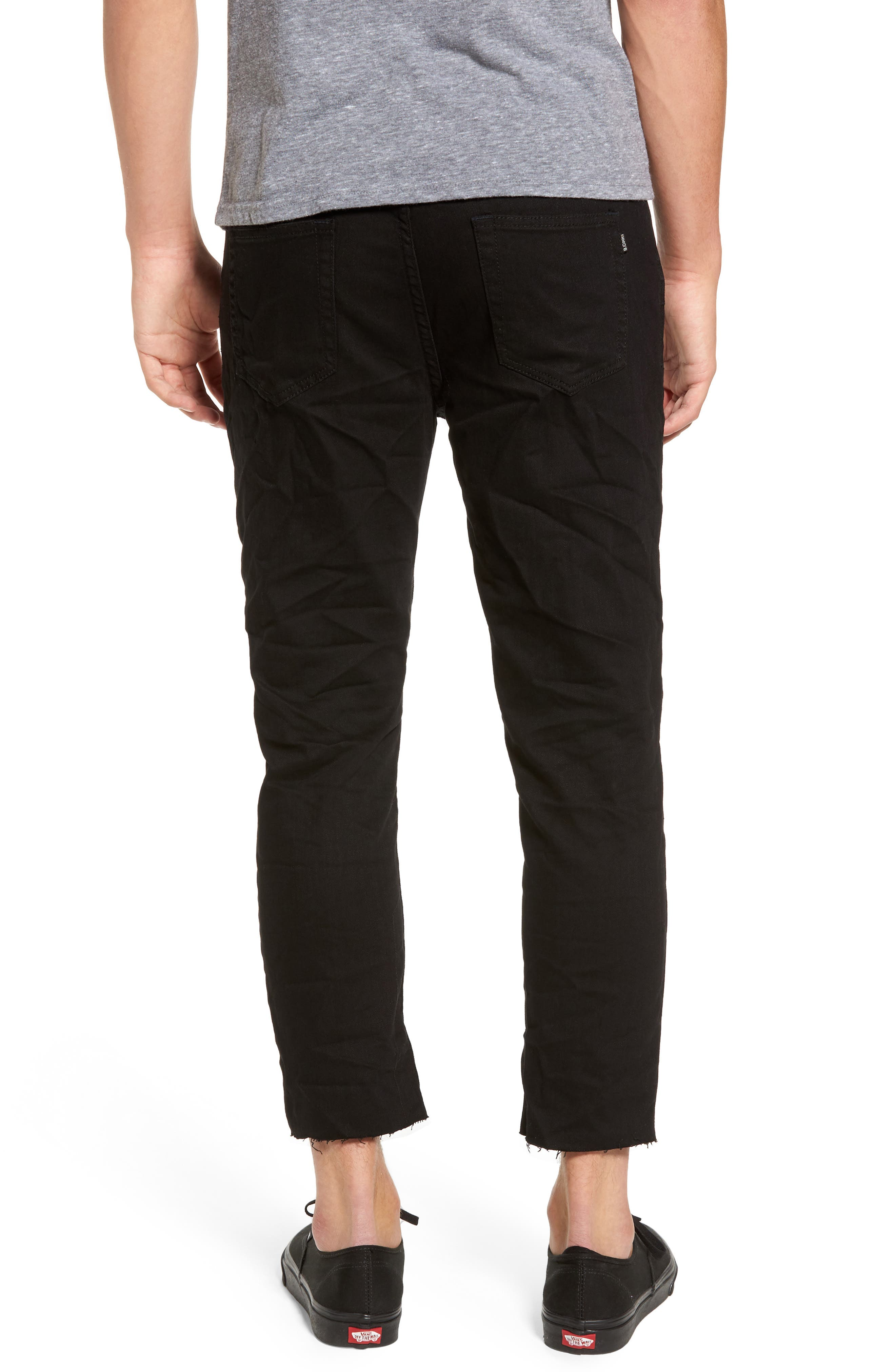 B.Line Crop Slim Fit Jeans,                             Alternate thumbnail 2, color,                             Washed Black