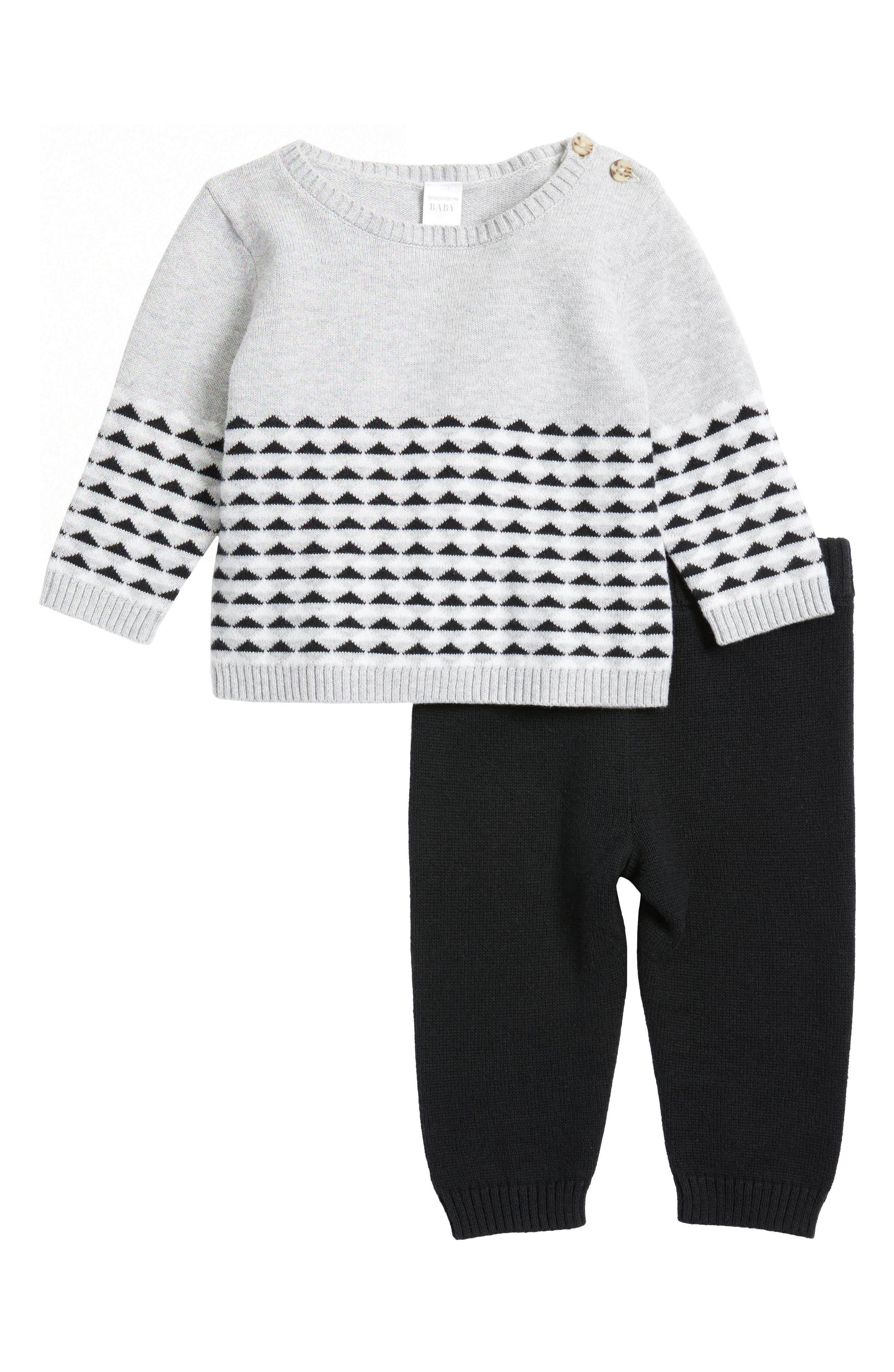 Sweater & Pants,                         Main,                         color, Grey Ash Heather Geo