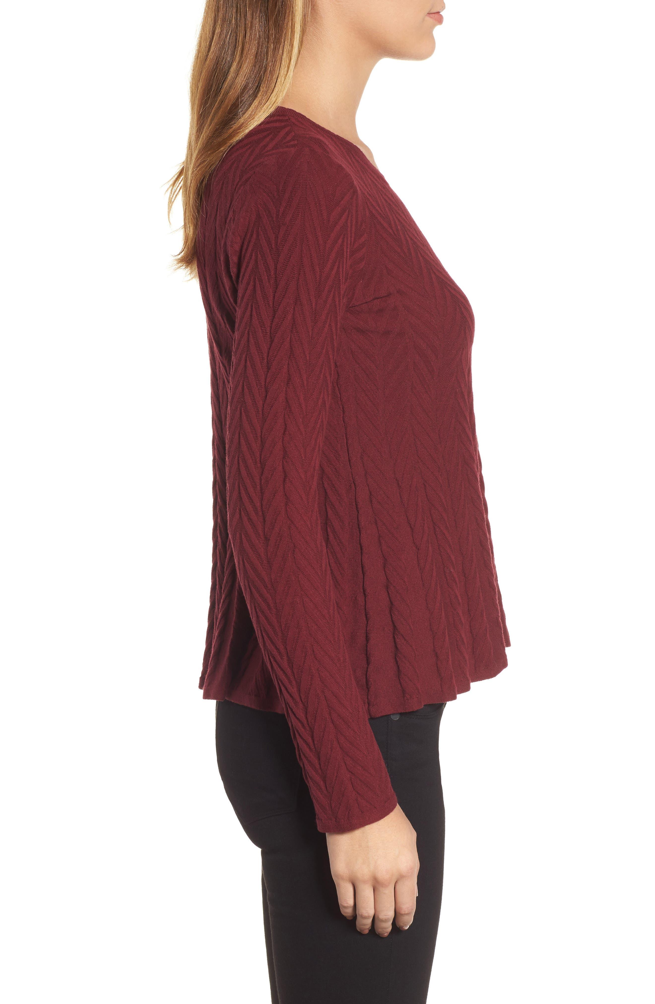 Alternate Image 3  - CeCe Chevron Stitch Sweater