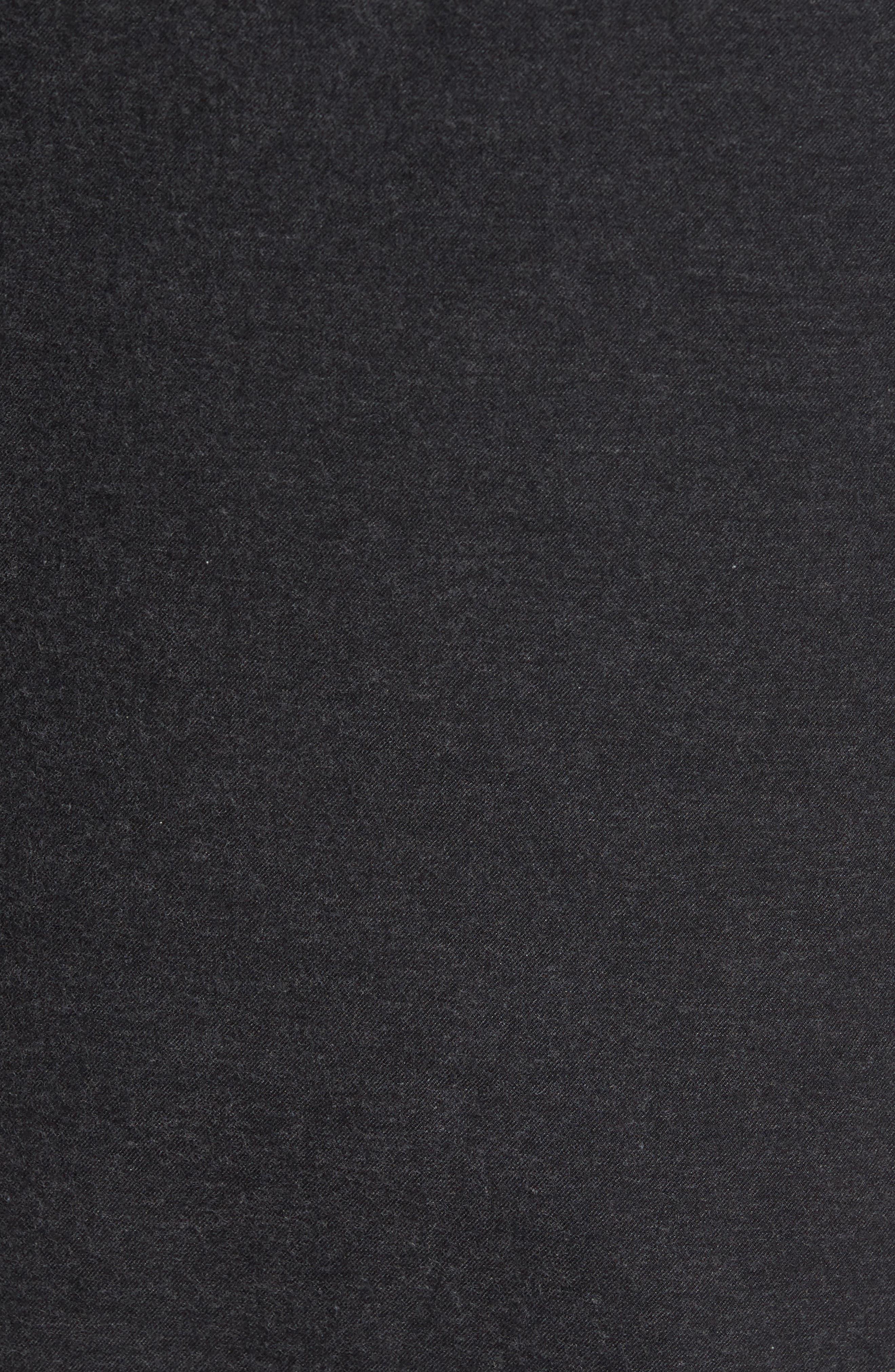 Caleb Slim Fit Sport Shirt,                             Alternate thumbnail 5, color,                             Heather Dark Charcoal