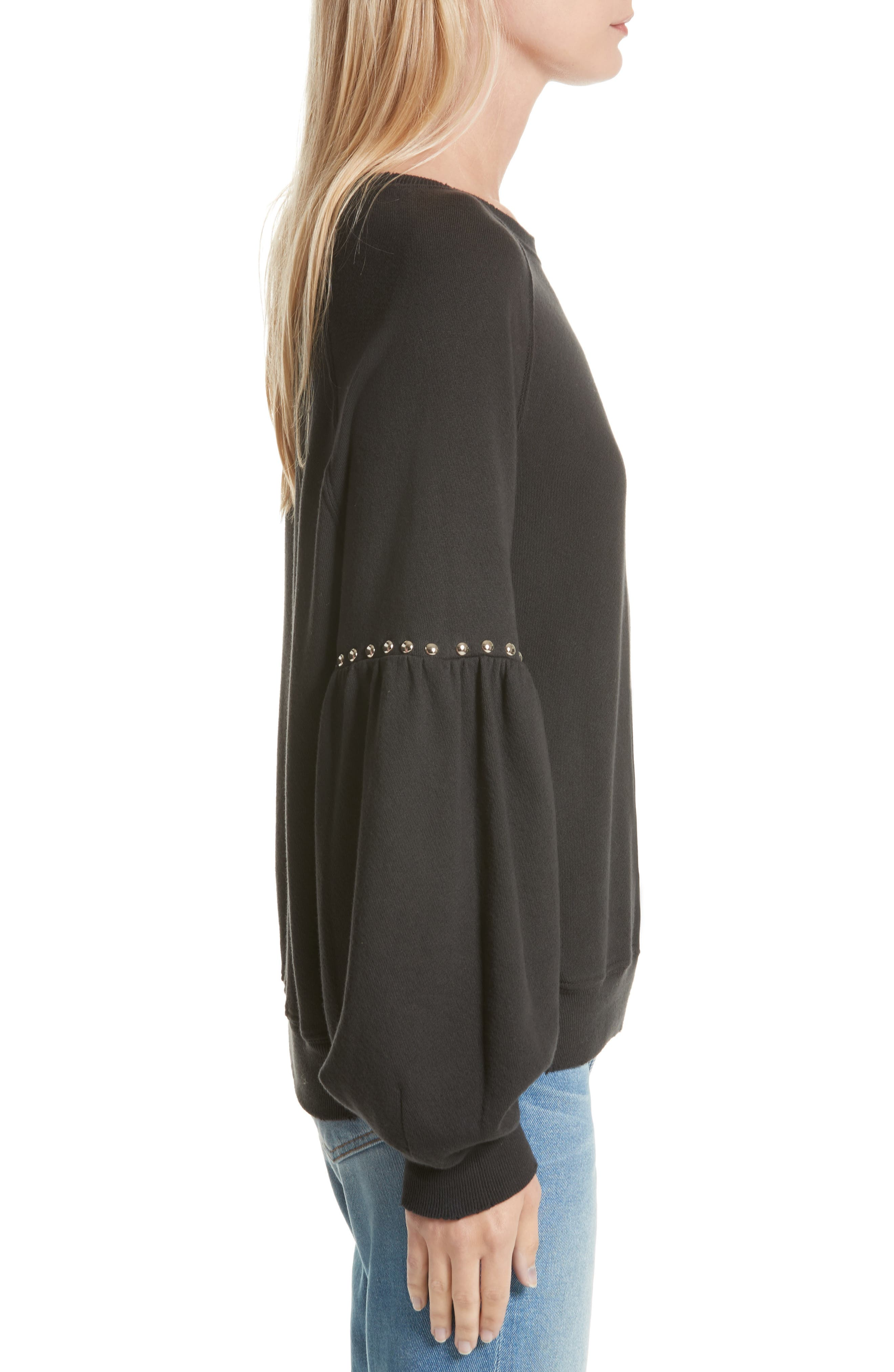Alternate Image 3  - THE GREAT. The Bishop Sleeve Studded Sweatshirt