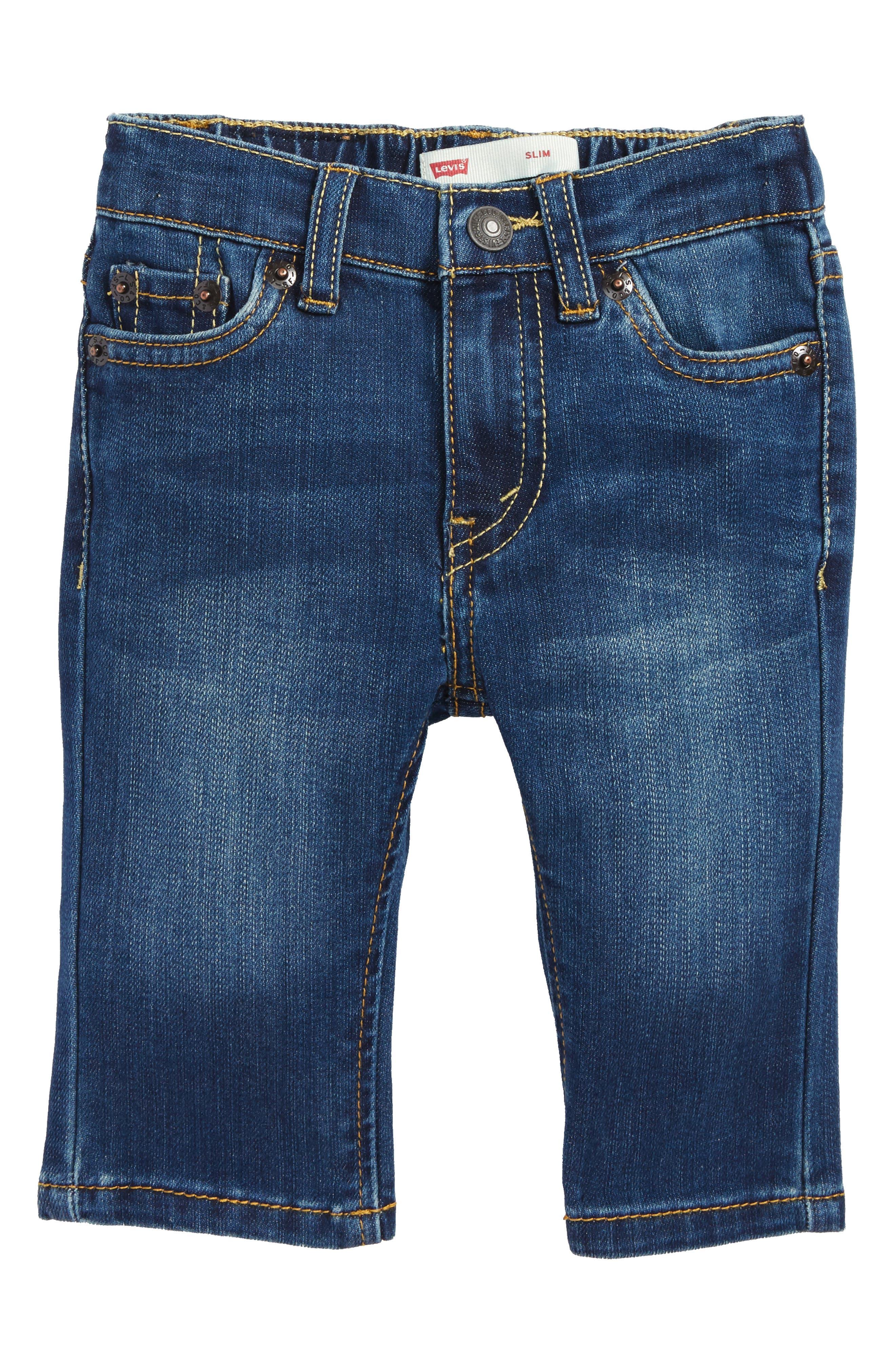 Alternate Image 1 Selected - Levi's® Comfort Slim Fit Jeans (Reflex Blue) (Baby Boys)