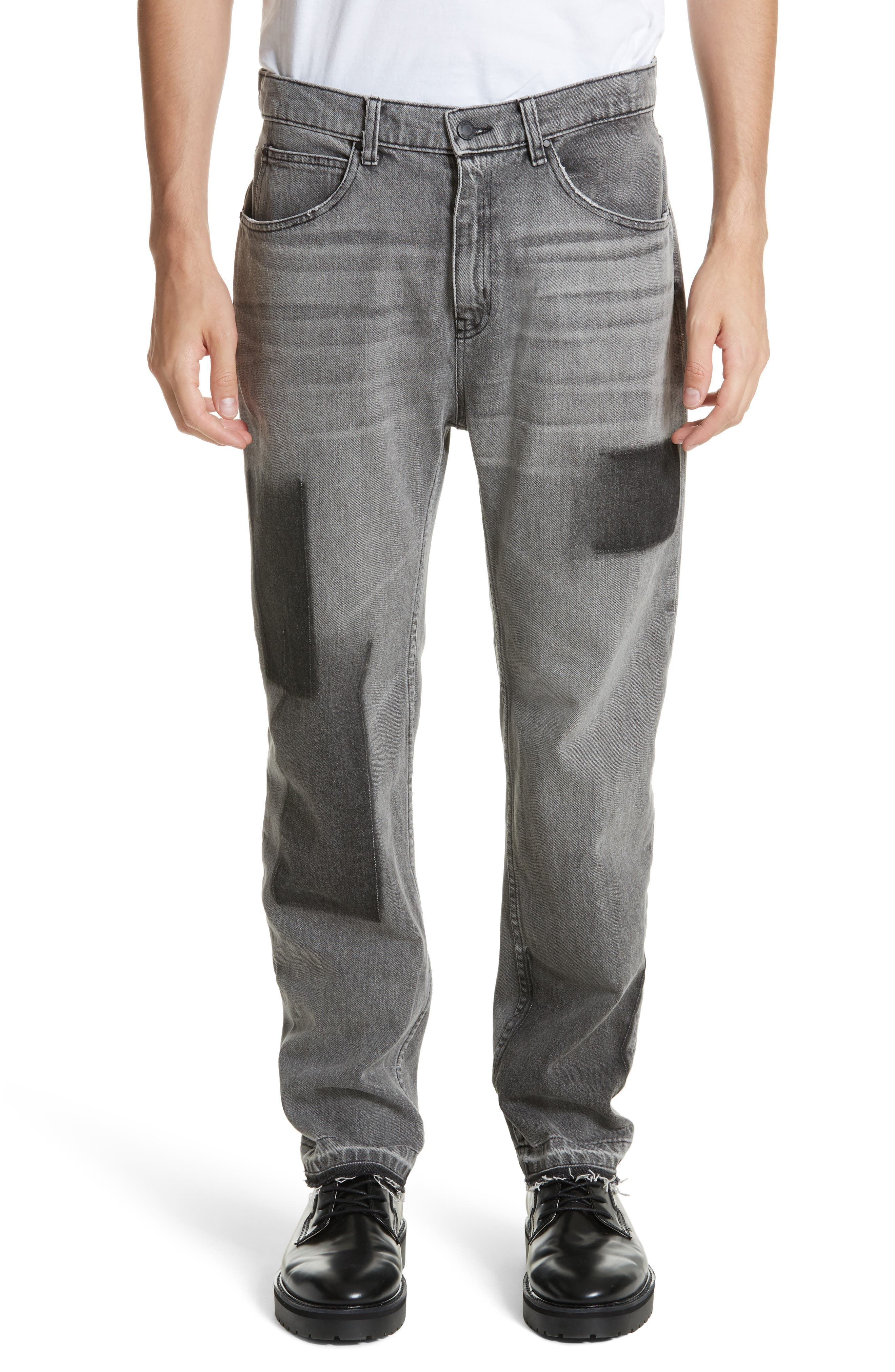 OS-2 Straight Leg Jeans,                         Main,                         color, Washed Black