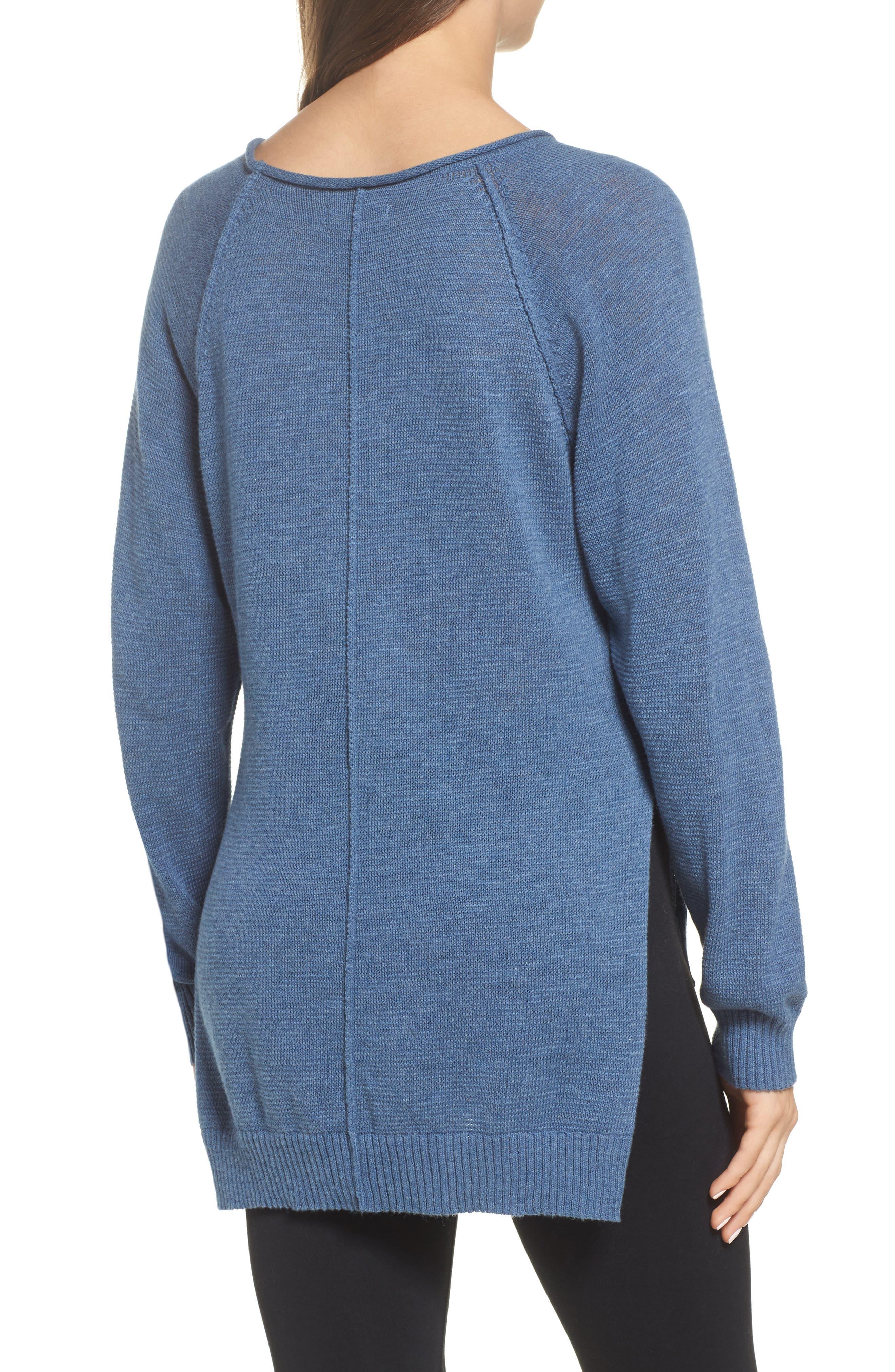 Alternate Image 2  - UGG® Estela High/Low Sweater