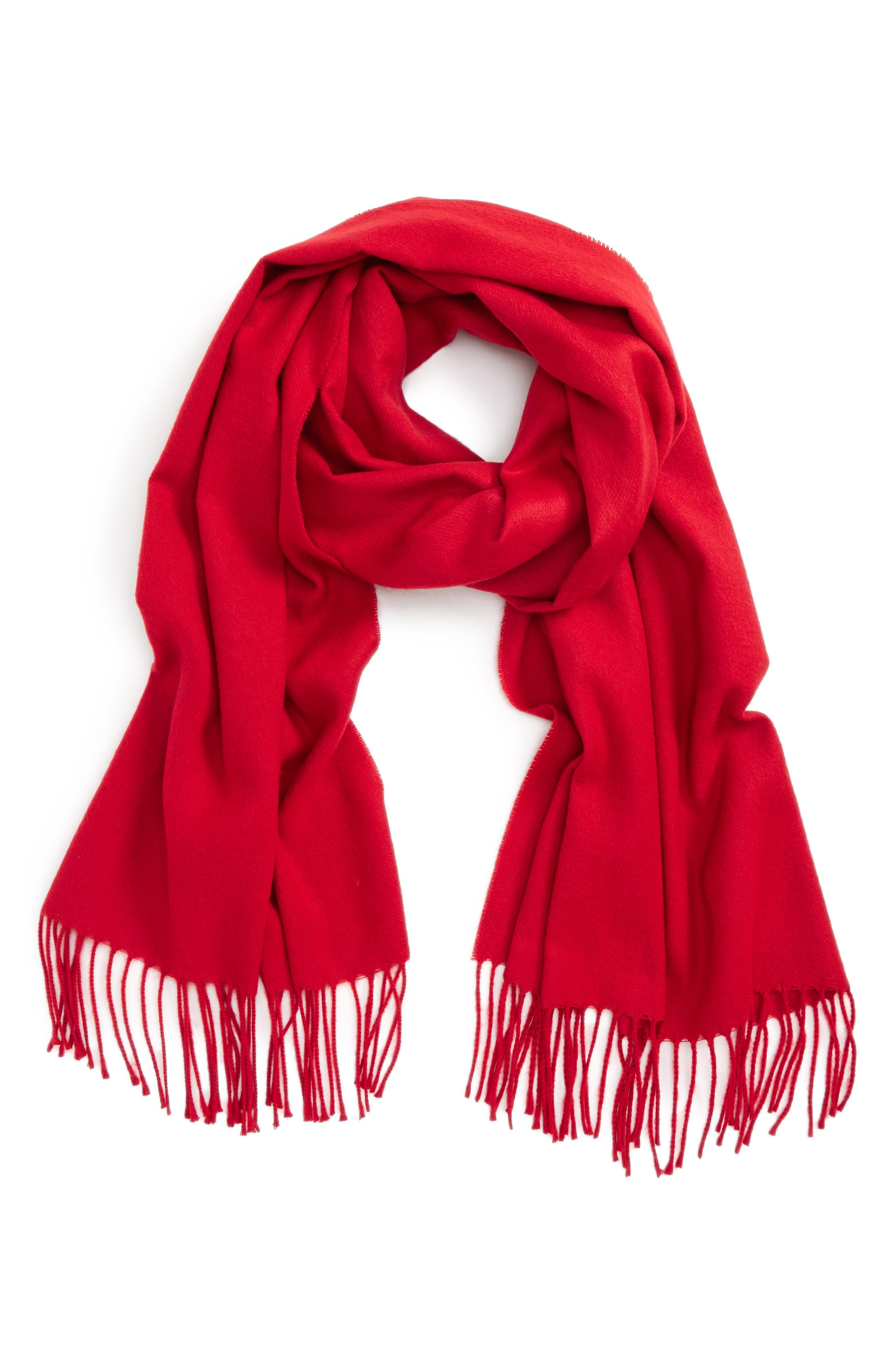 Fargo Scarf,                             Main thumbnail 1, color,                             Red